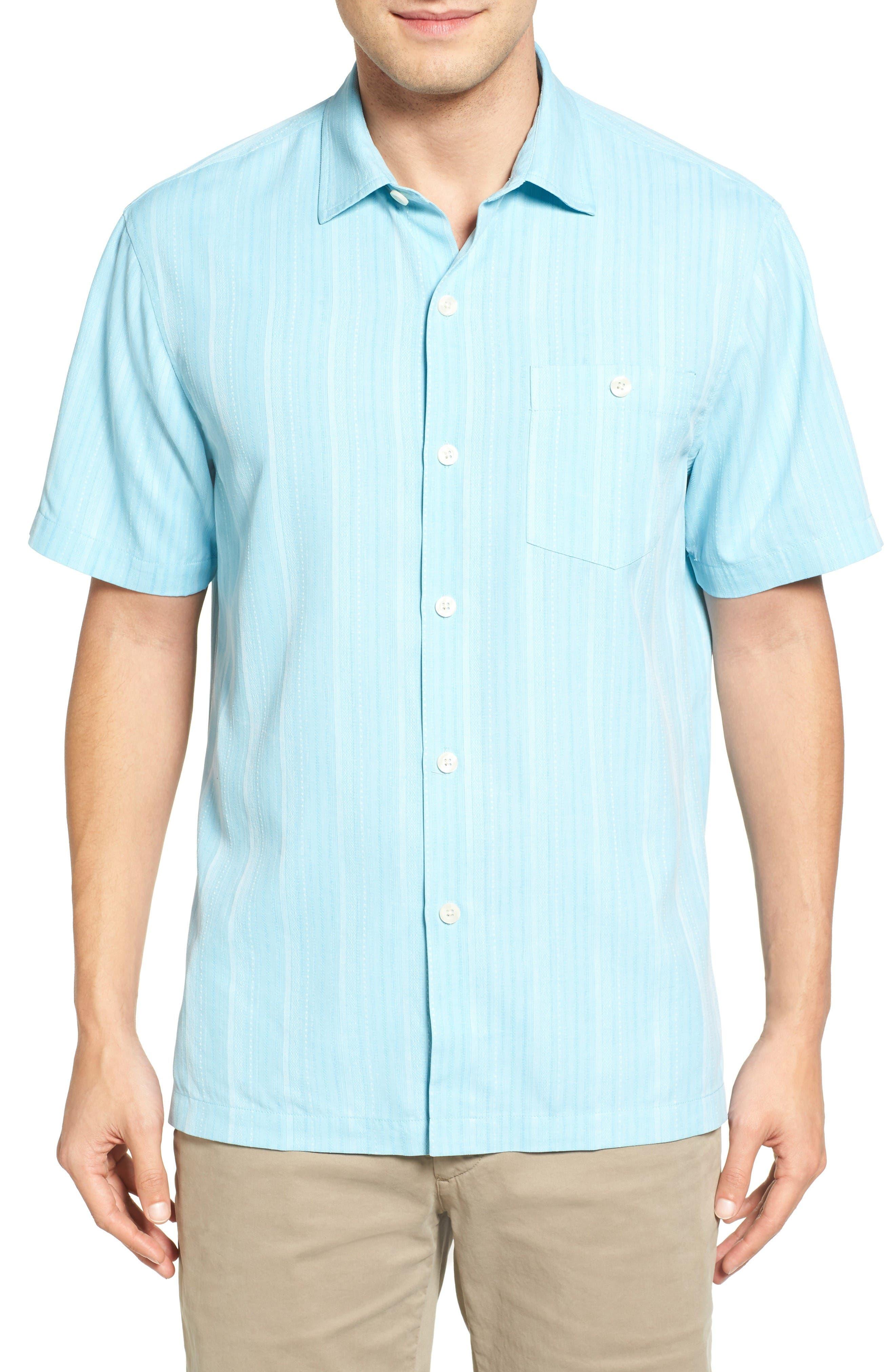 TOMMY BAHAMA Zaldera Stripe Silk Camp Shirt