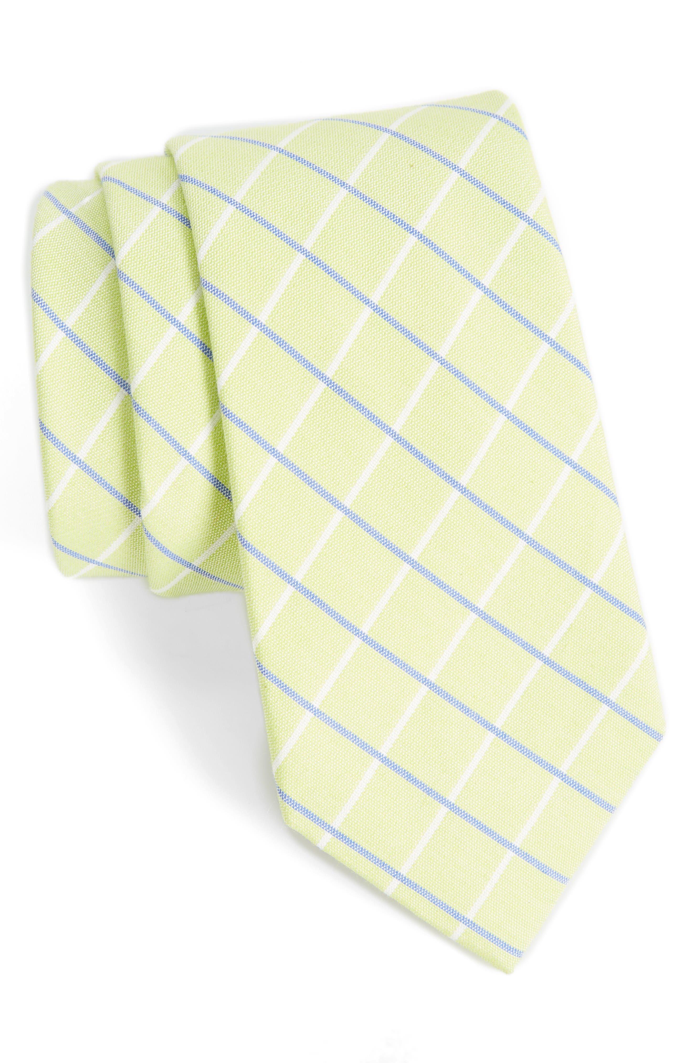 Nordstrom Men's Shop Grid Cotton & Silk Tie