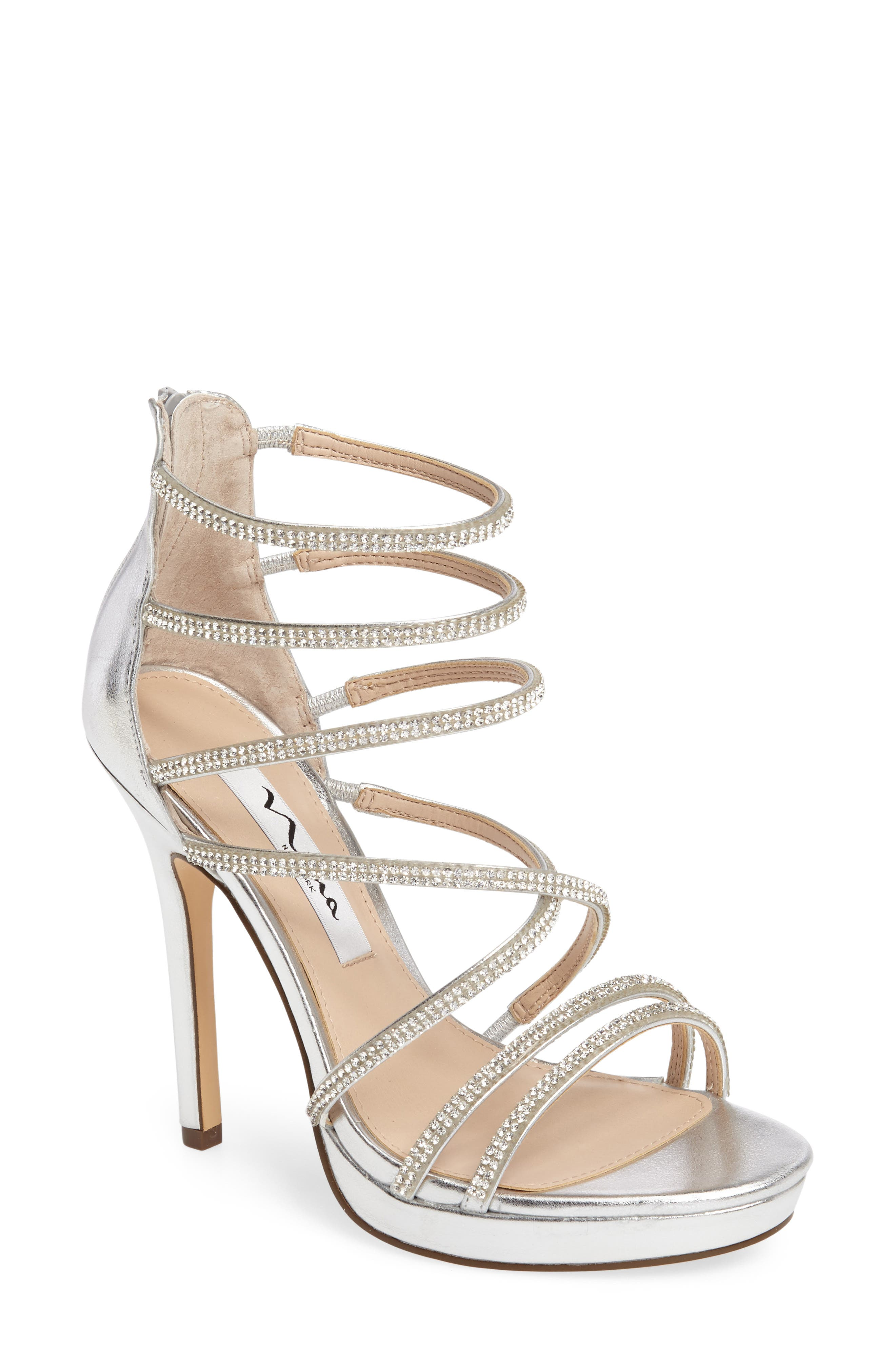 NINA Finessa Embellished Strappy Sandal