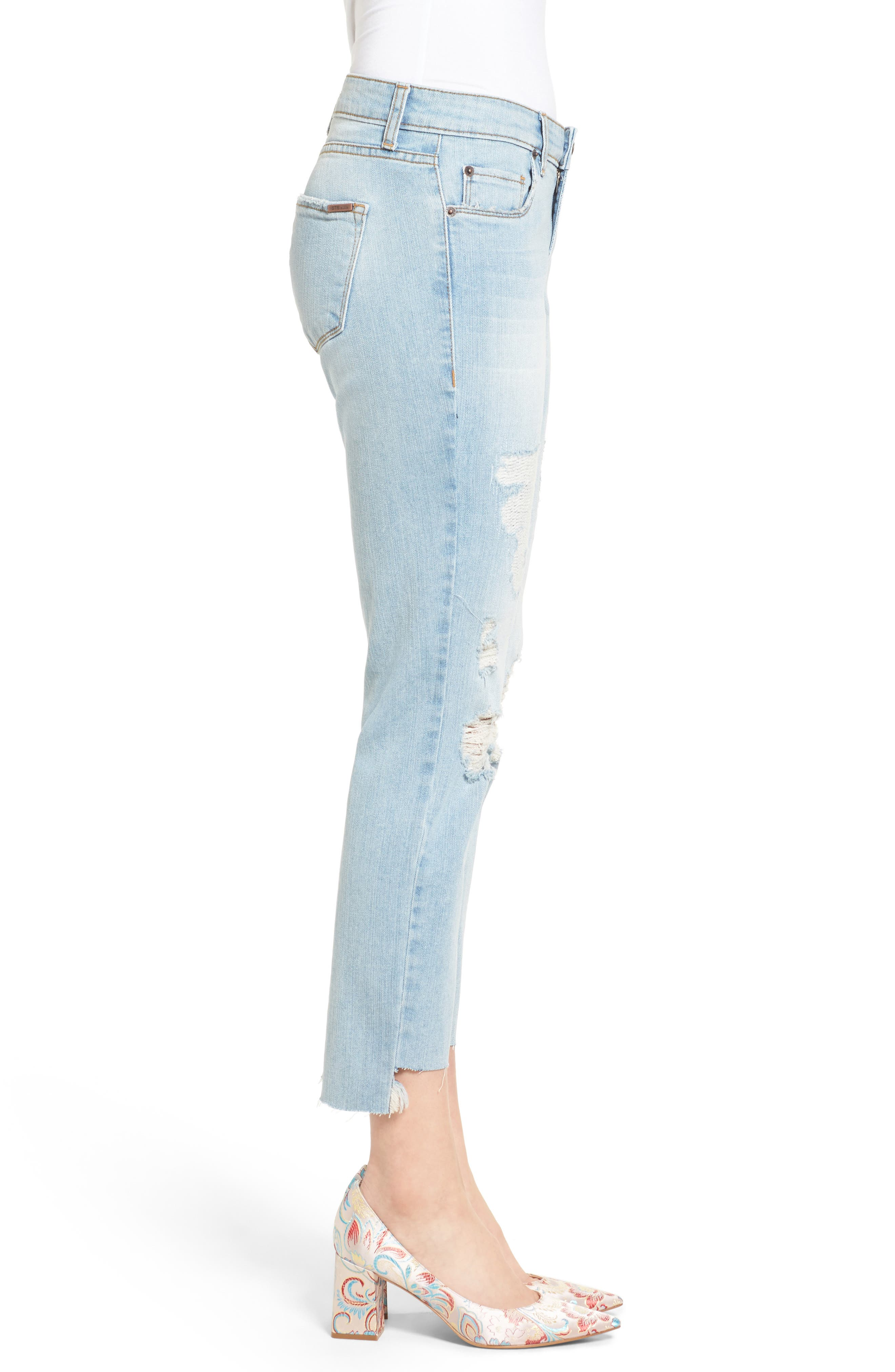 Alternate Image 3  - STS Blue Taylor Tomboy Ripped Boyfriend Jeans with Step Hem (Lakeshore)