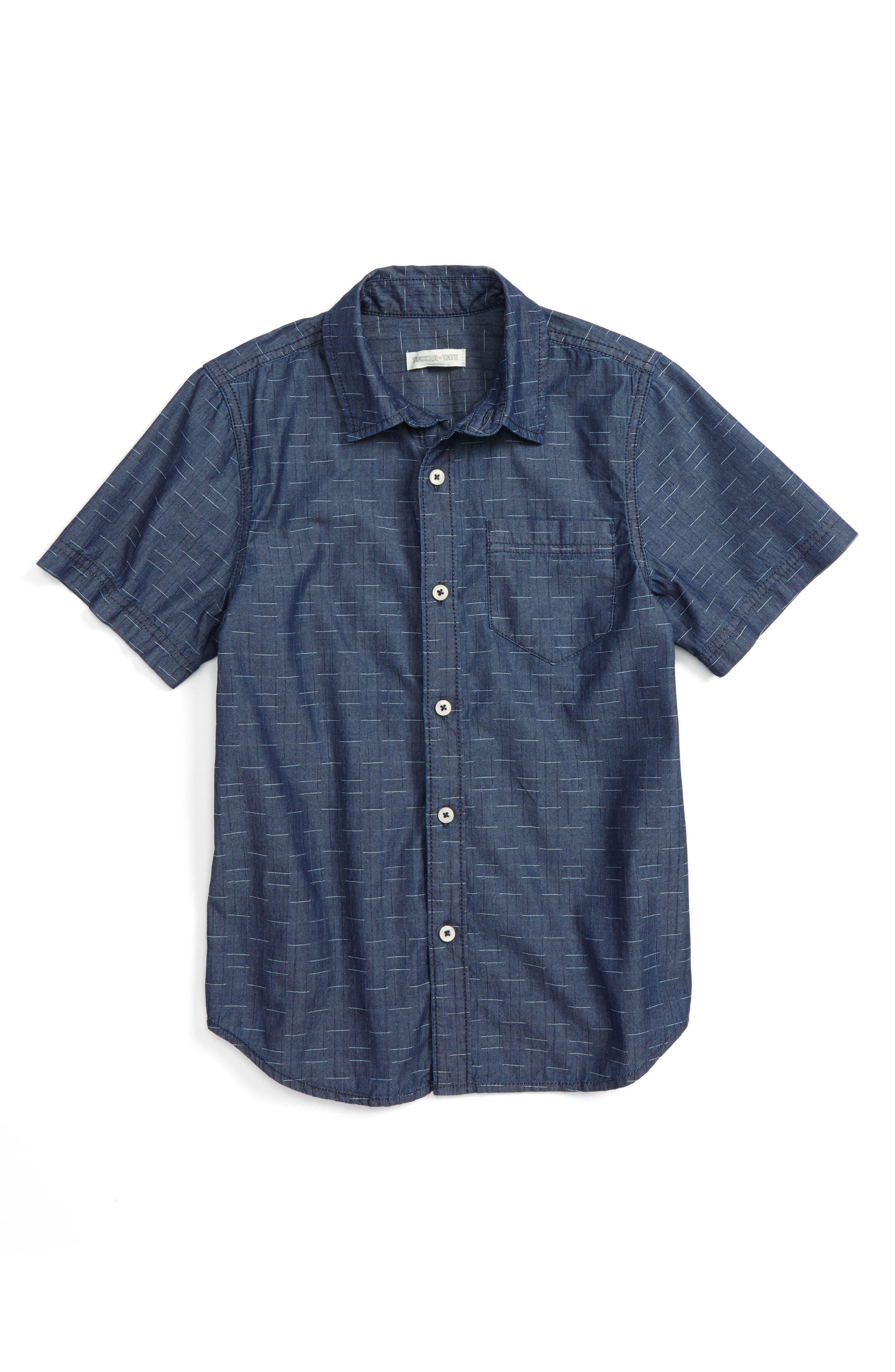 TUCKER + TATE Indigo Woven Shirt