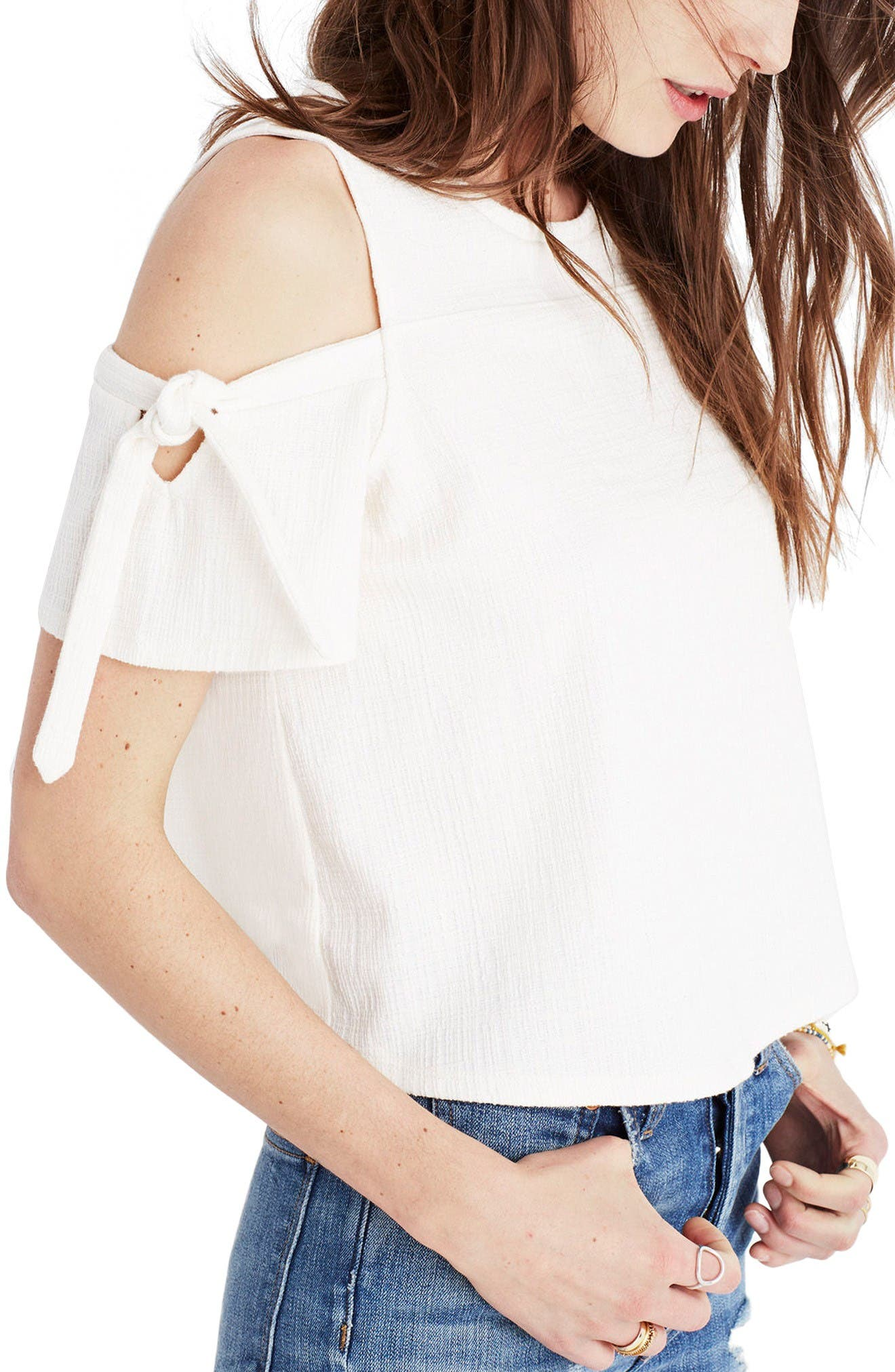 Alternate Image 3  - Madewell Skylark Cold Shoulder Top