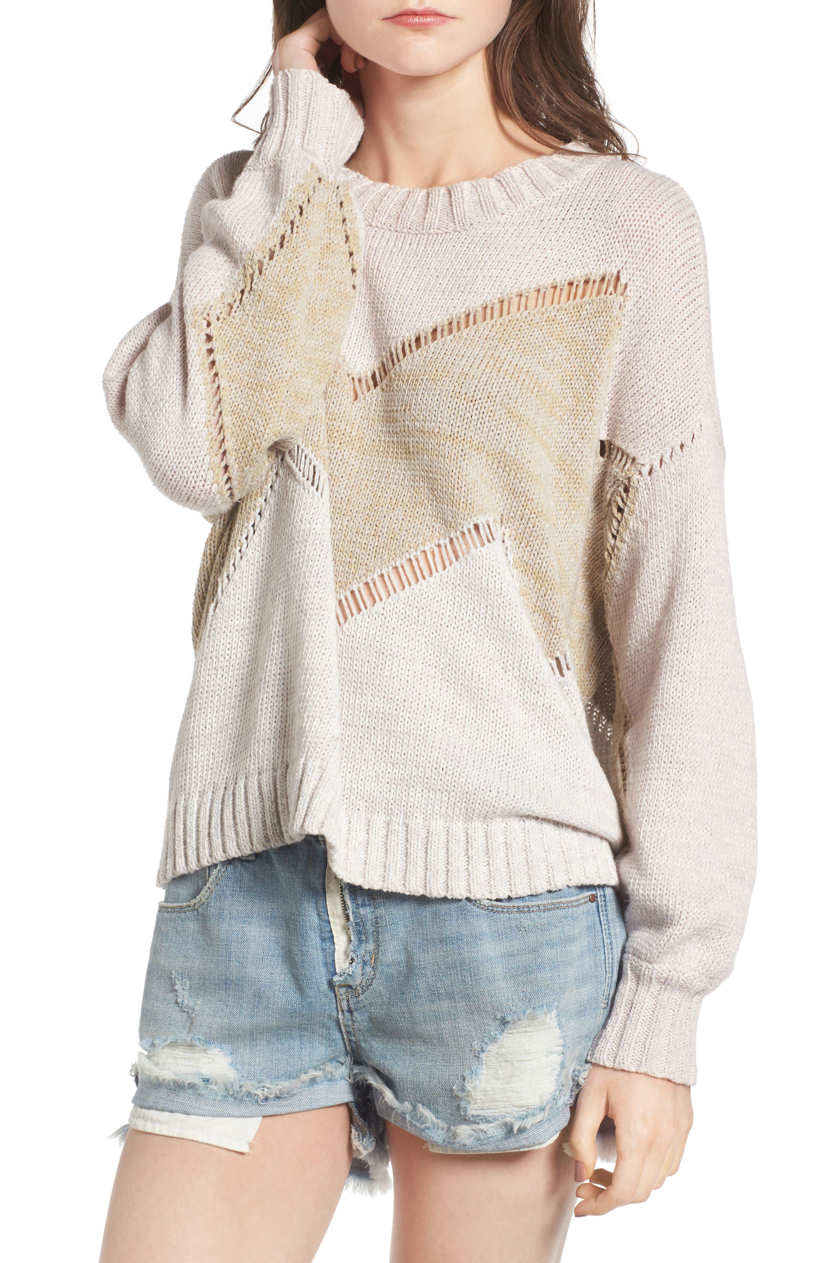 Wildfox Chevron Open Stitch Sweater