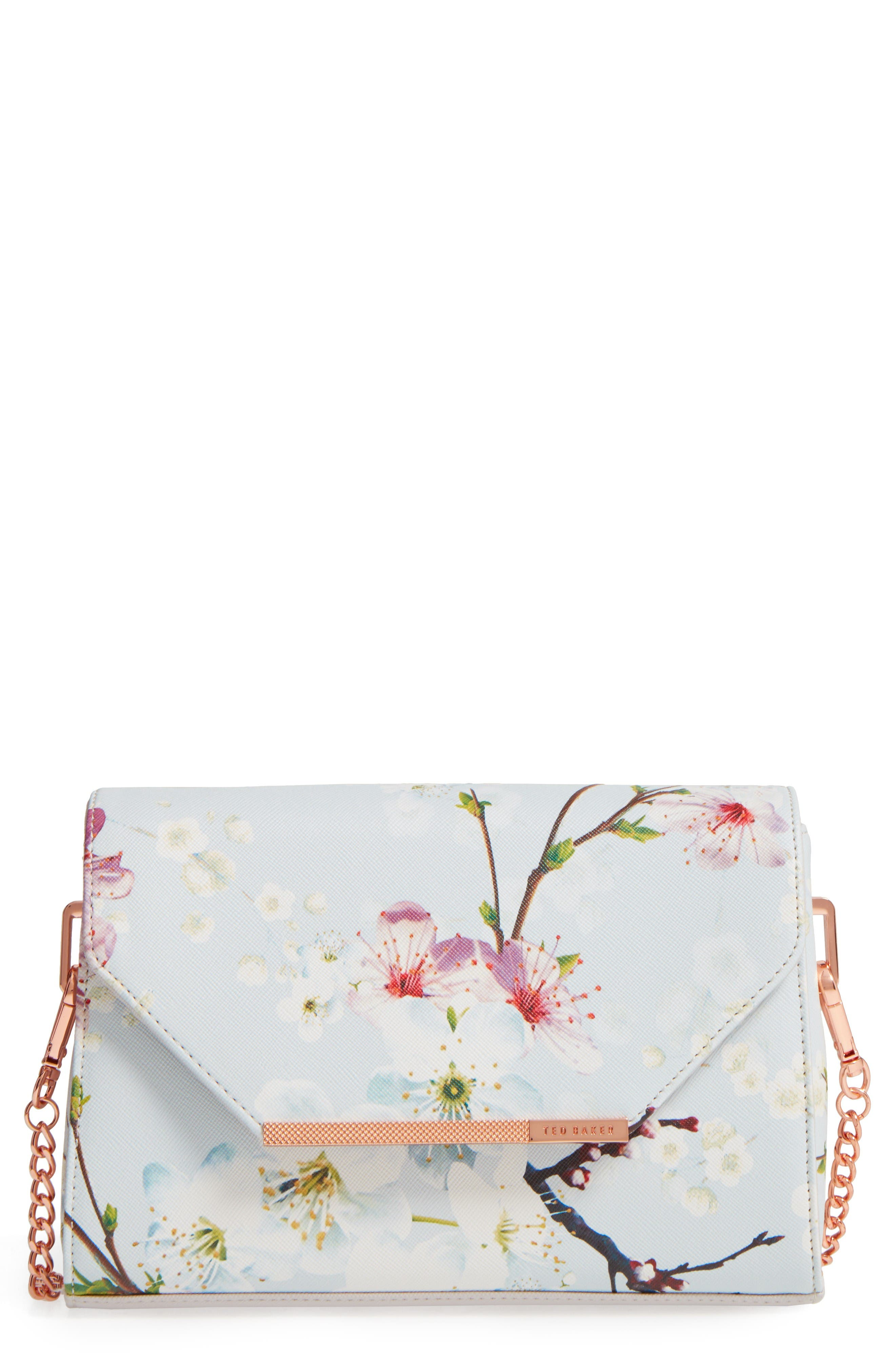 Alternate Image 1 Selected - Ted Baker London Hadly Cherry Blossom Faux Leather Crossbody Bag