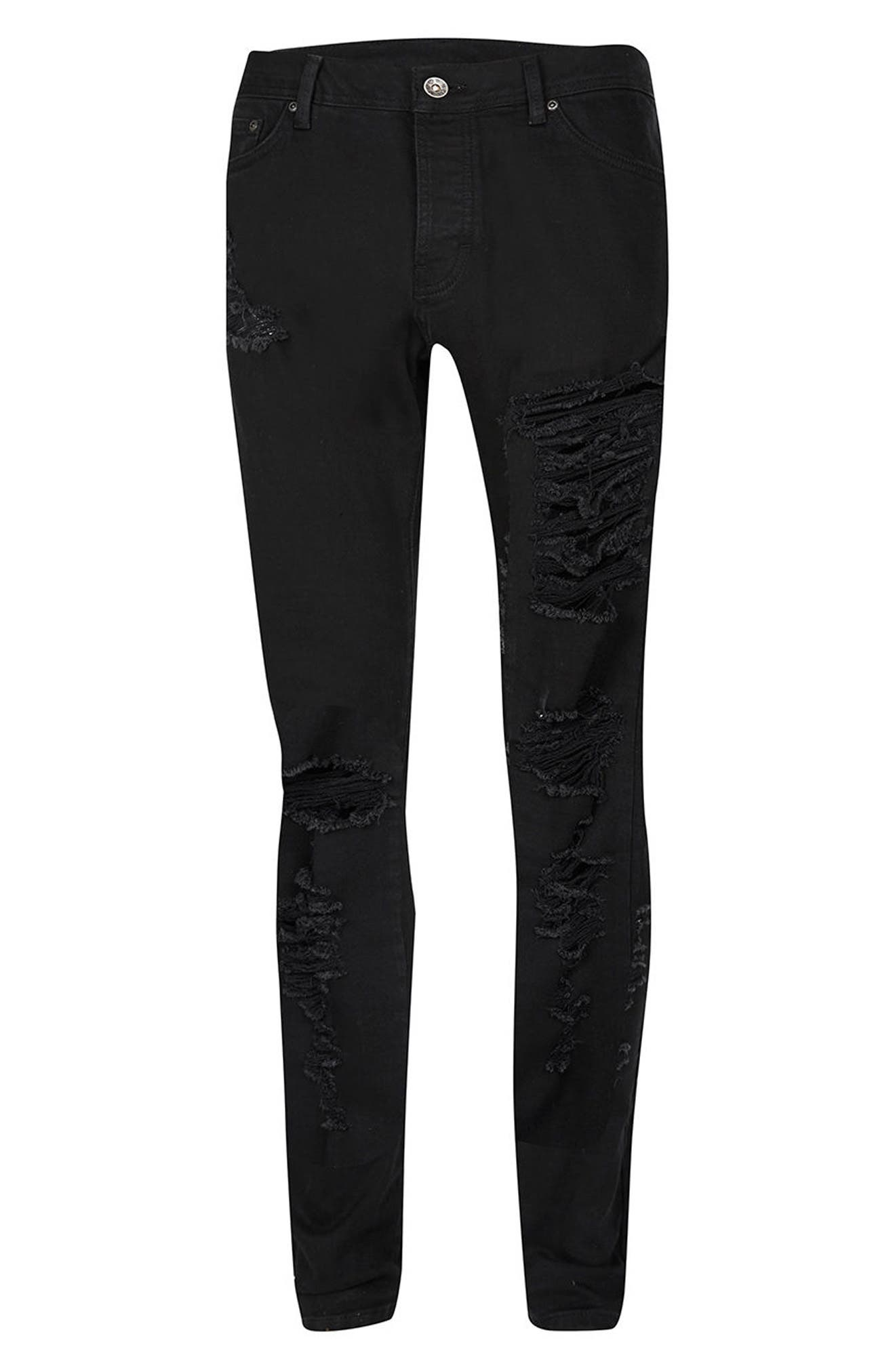 Alternate Image 6  - Topman AAA Collection Ripped Stretch Skinny Jeans