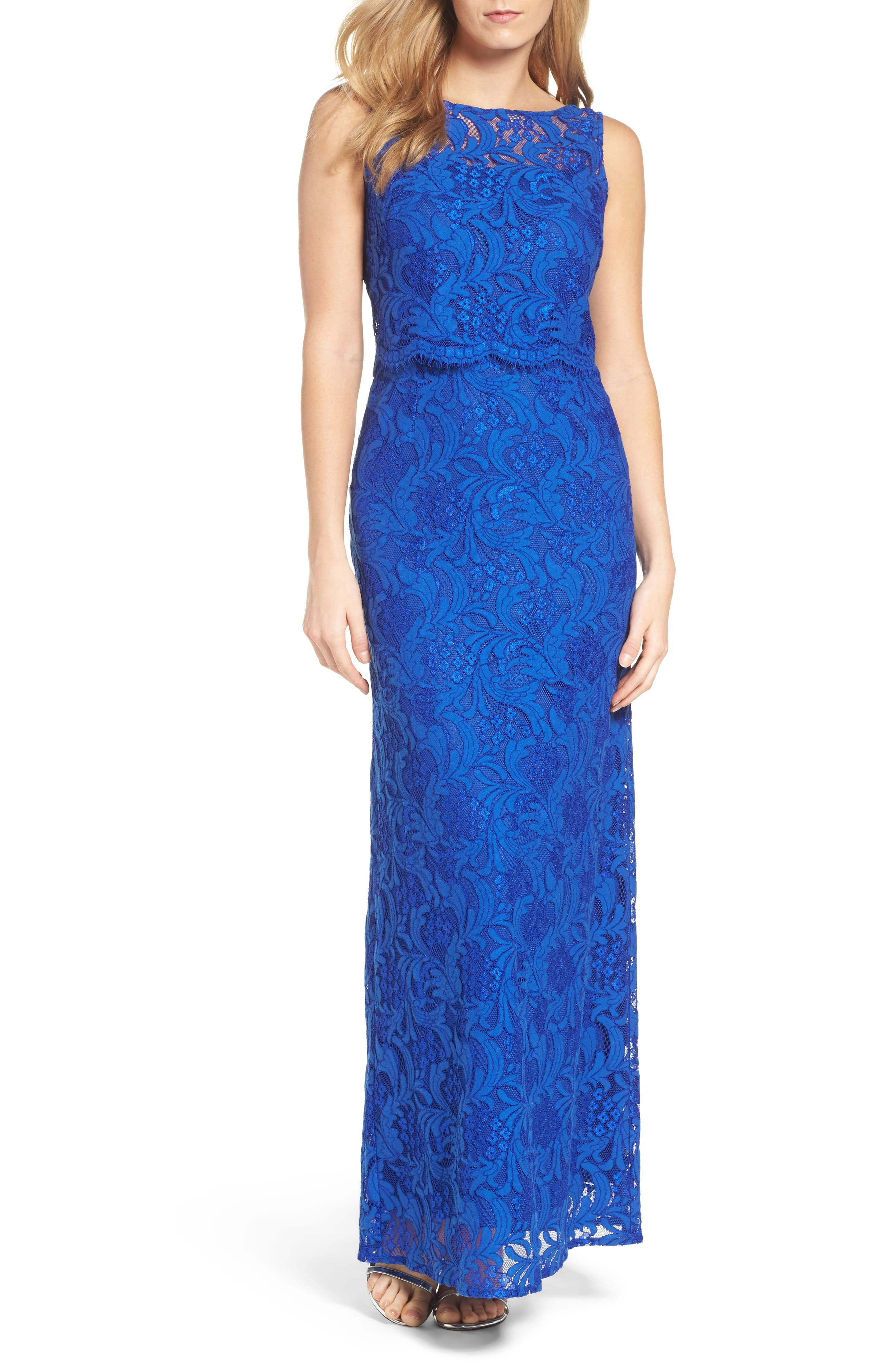 Ellen Tracy Popover Column Gown