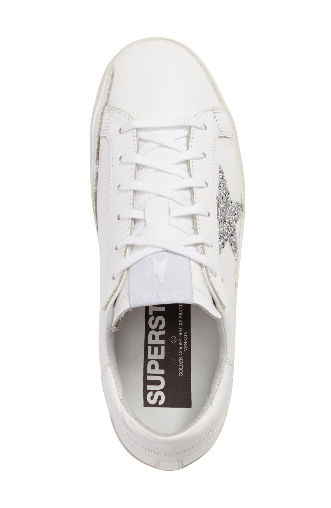Alternate Image 4  - Golden Goose Superstar High Top Swarovski Crystal Sneaker (Women)