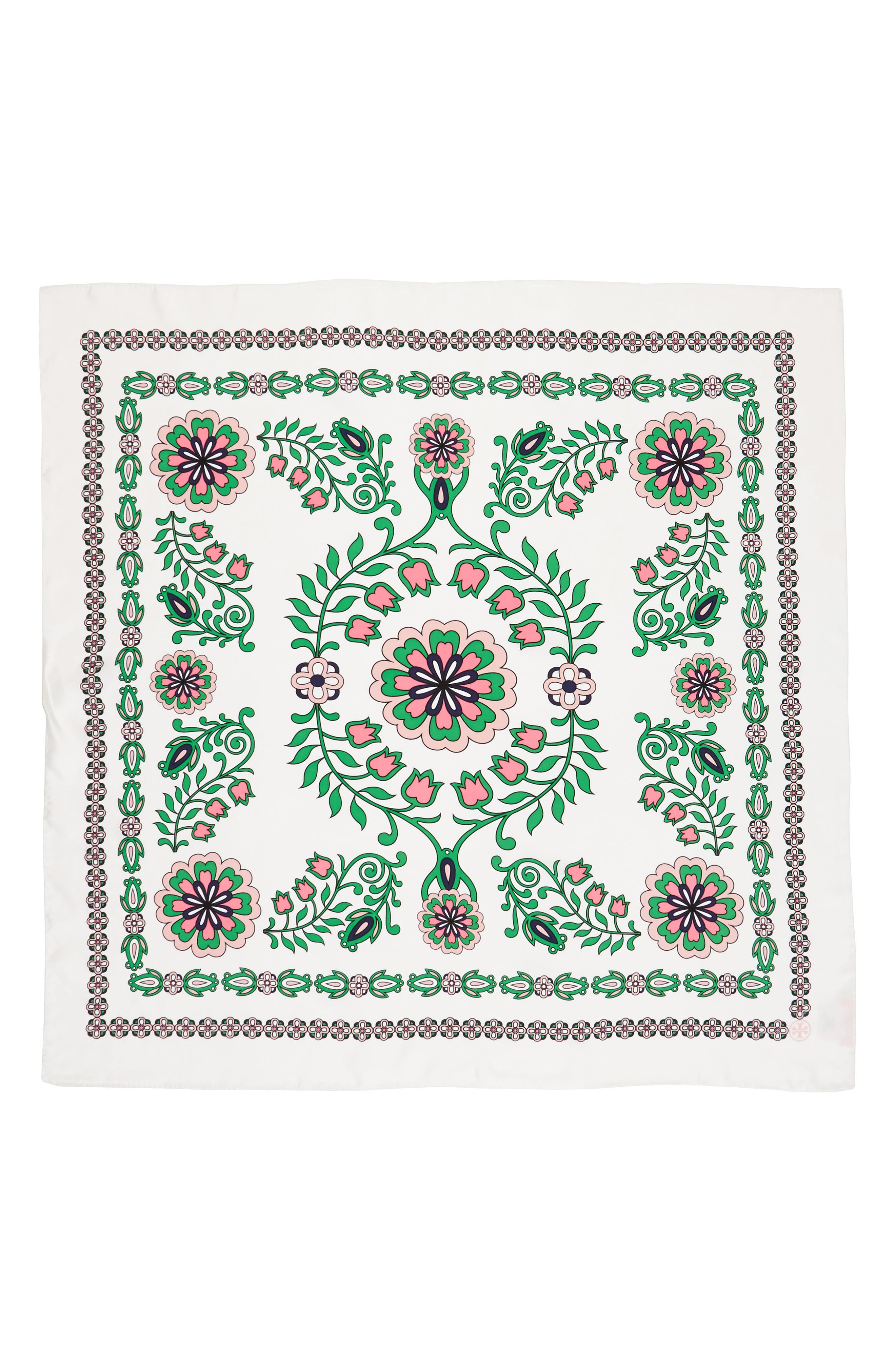 Alternate Image 2  - Tory Burch Garden Party Square Silk Scarf