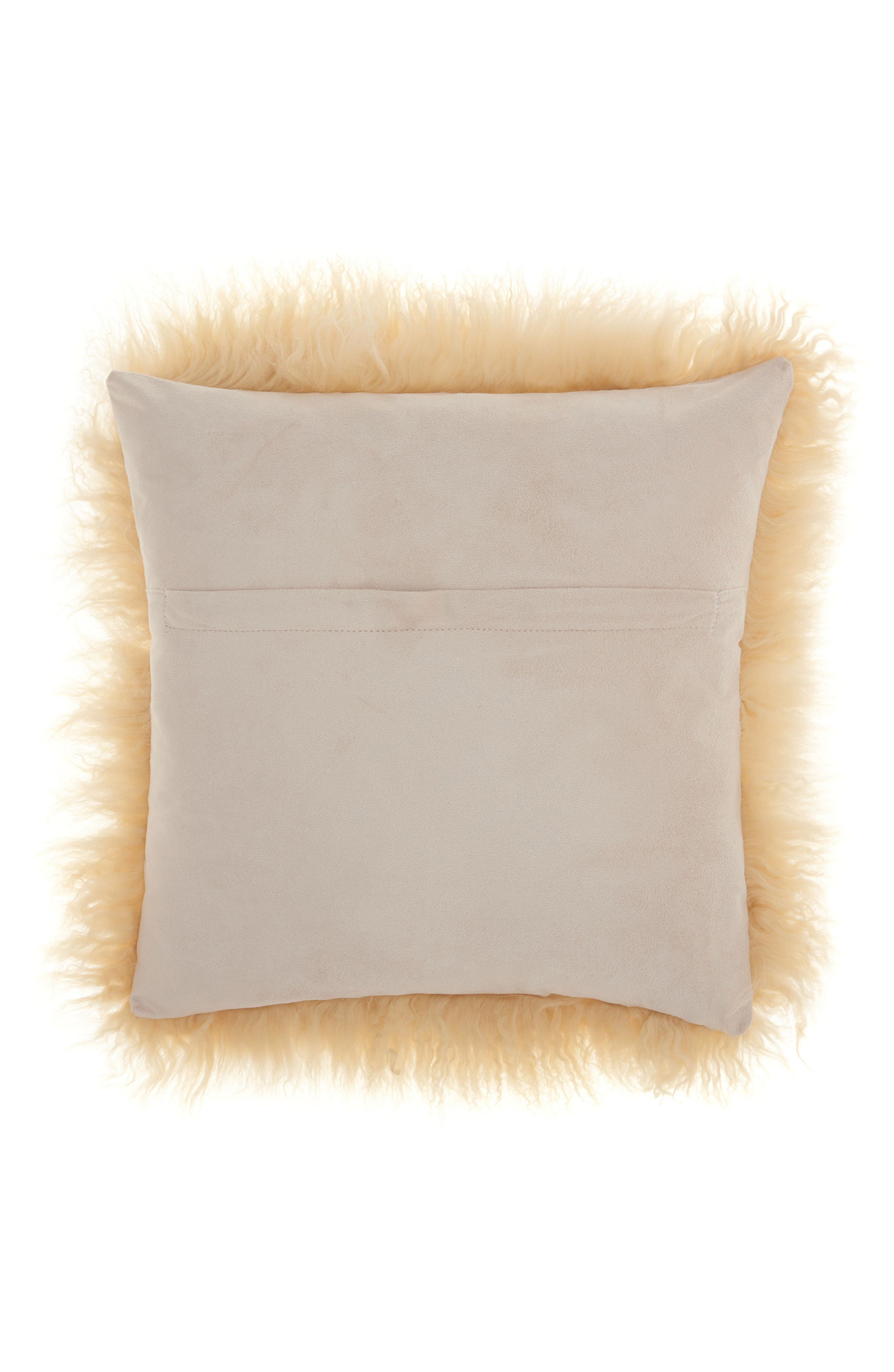 Alternate Image 2  - Mina Victory Genuine Tibetan Wool Shearling Pillow