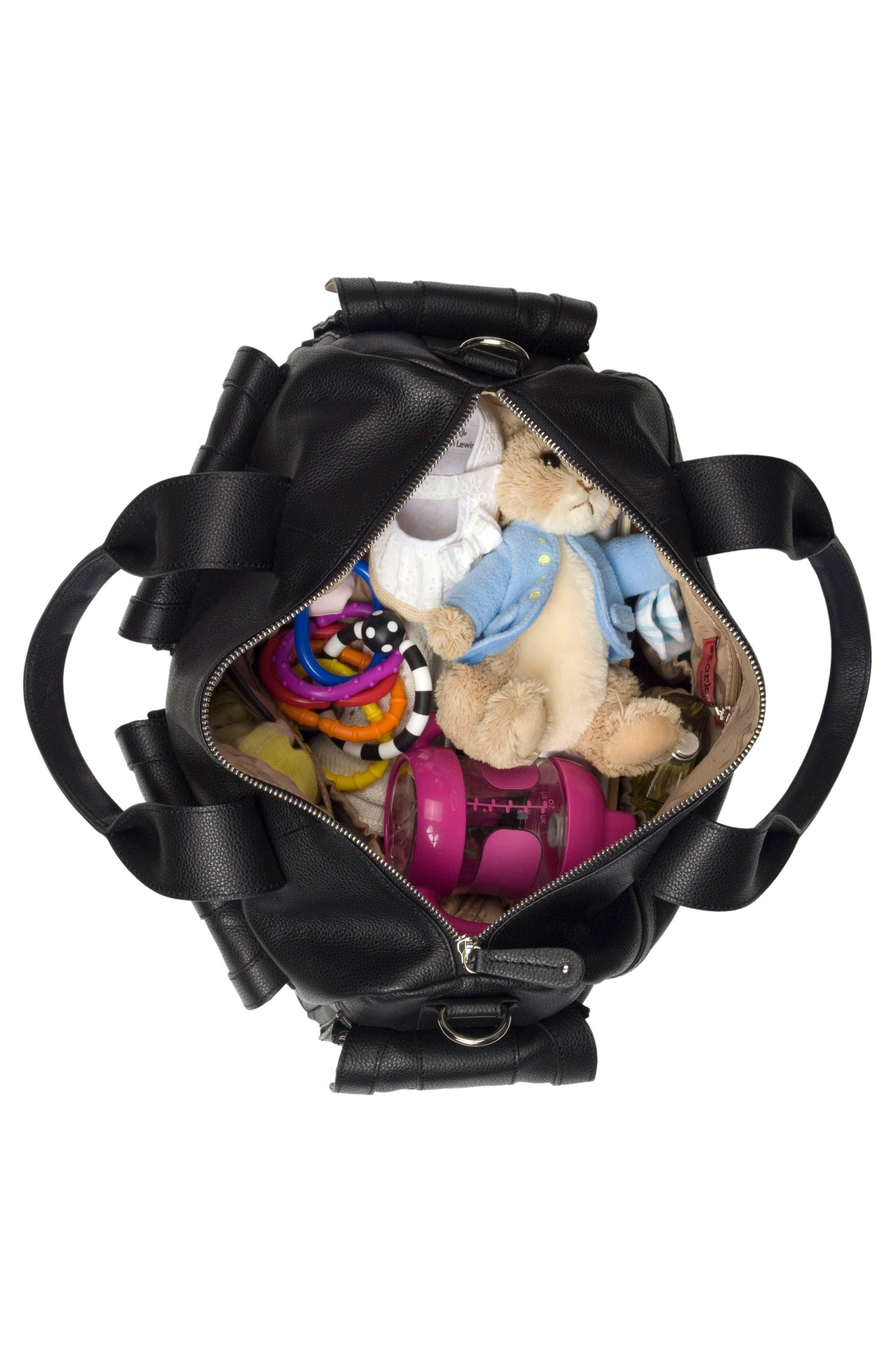 Alternate Image 3  - Storsak 'Sofia' Leather Diaper Bag