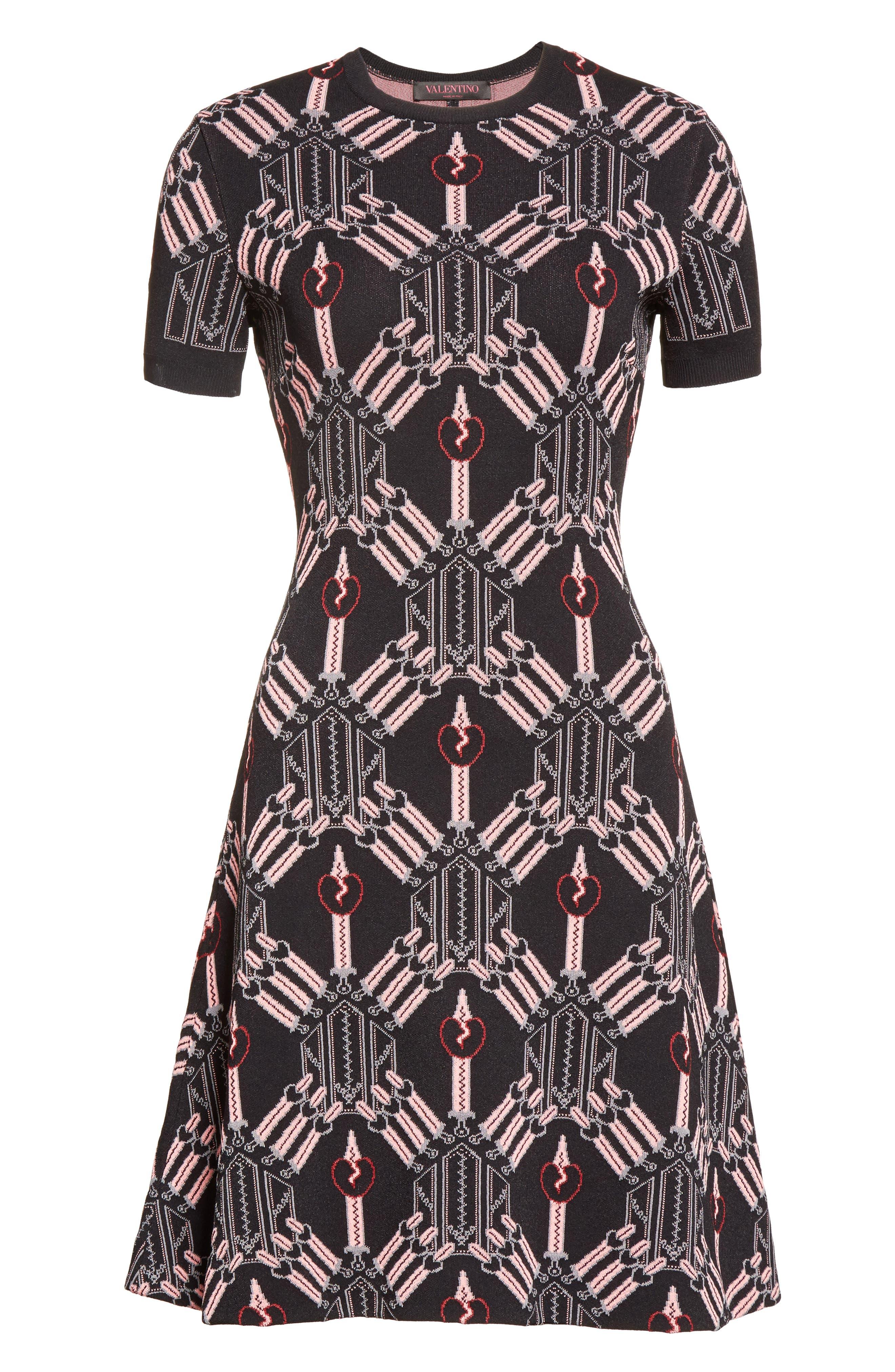 Alternate Image 4  - Valentino Love Blade Fit & Flare Dress
