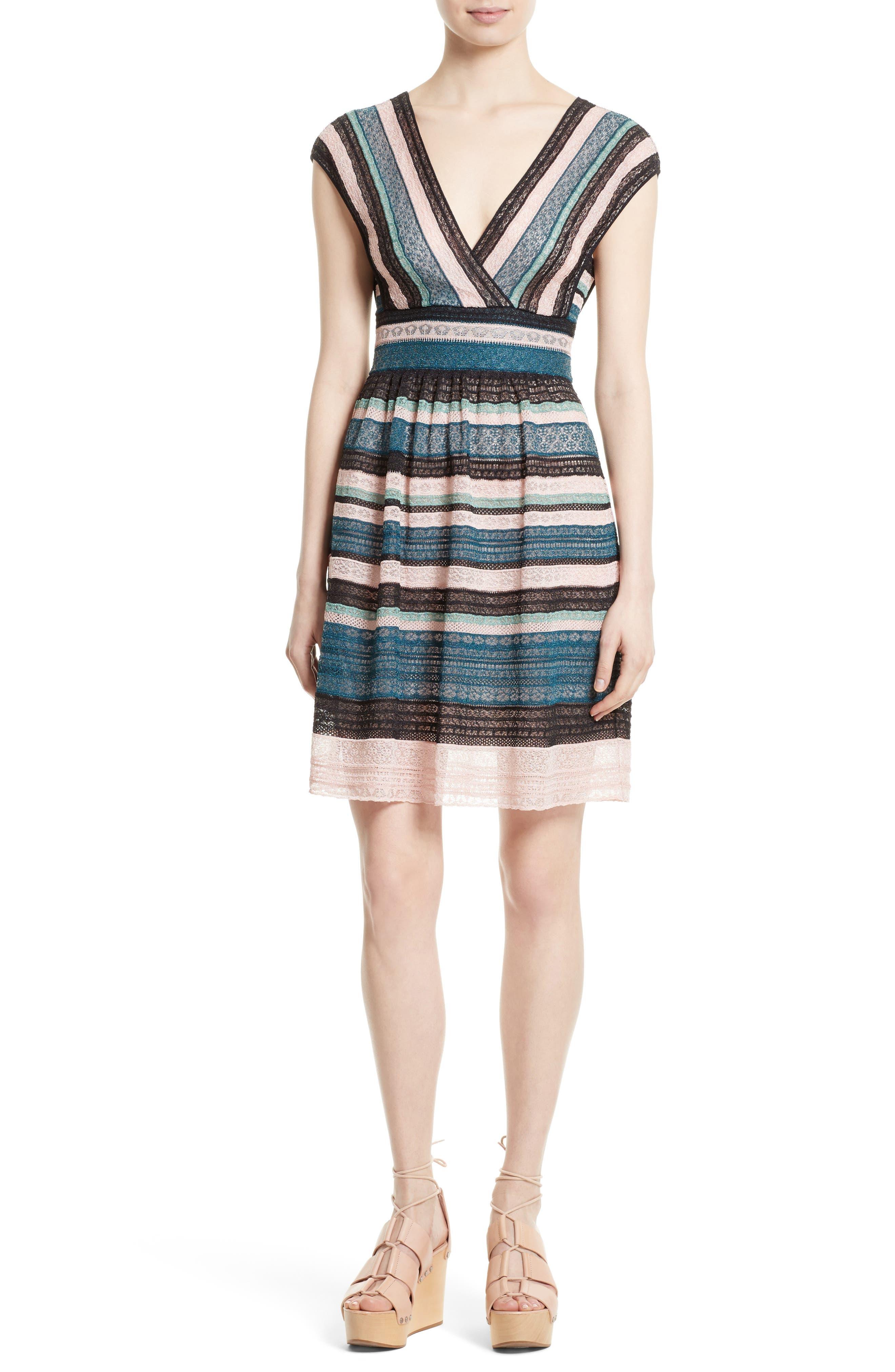 M Missoni Metallic Ribbon Lace Dress