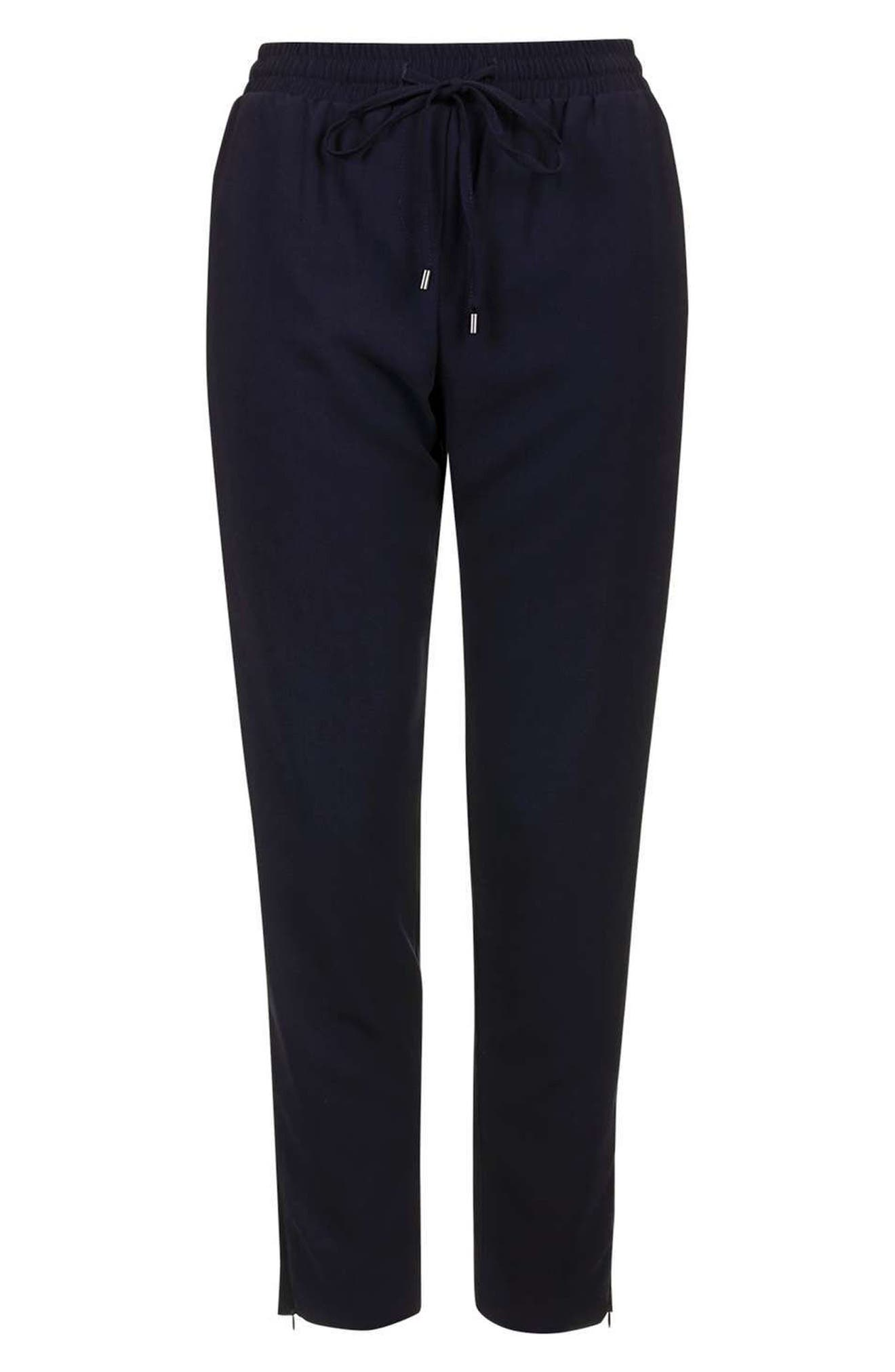 Alternate Image 4  - Topshop Contrast Piped Ankle Zip Jogger Pants