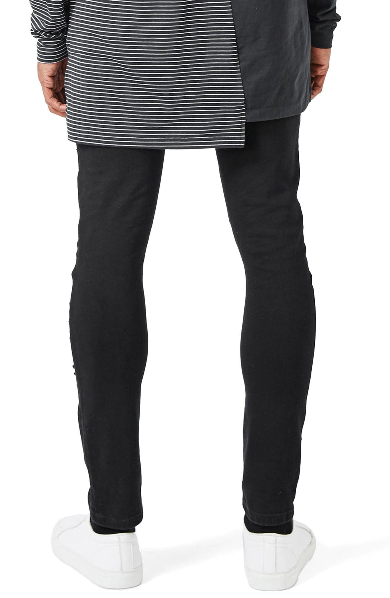 Alternate Image 3  - Topman AAA Collection Ripped Stretch Skinny Jeans