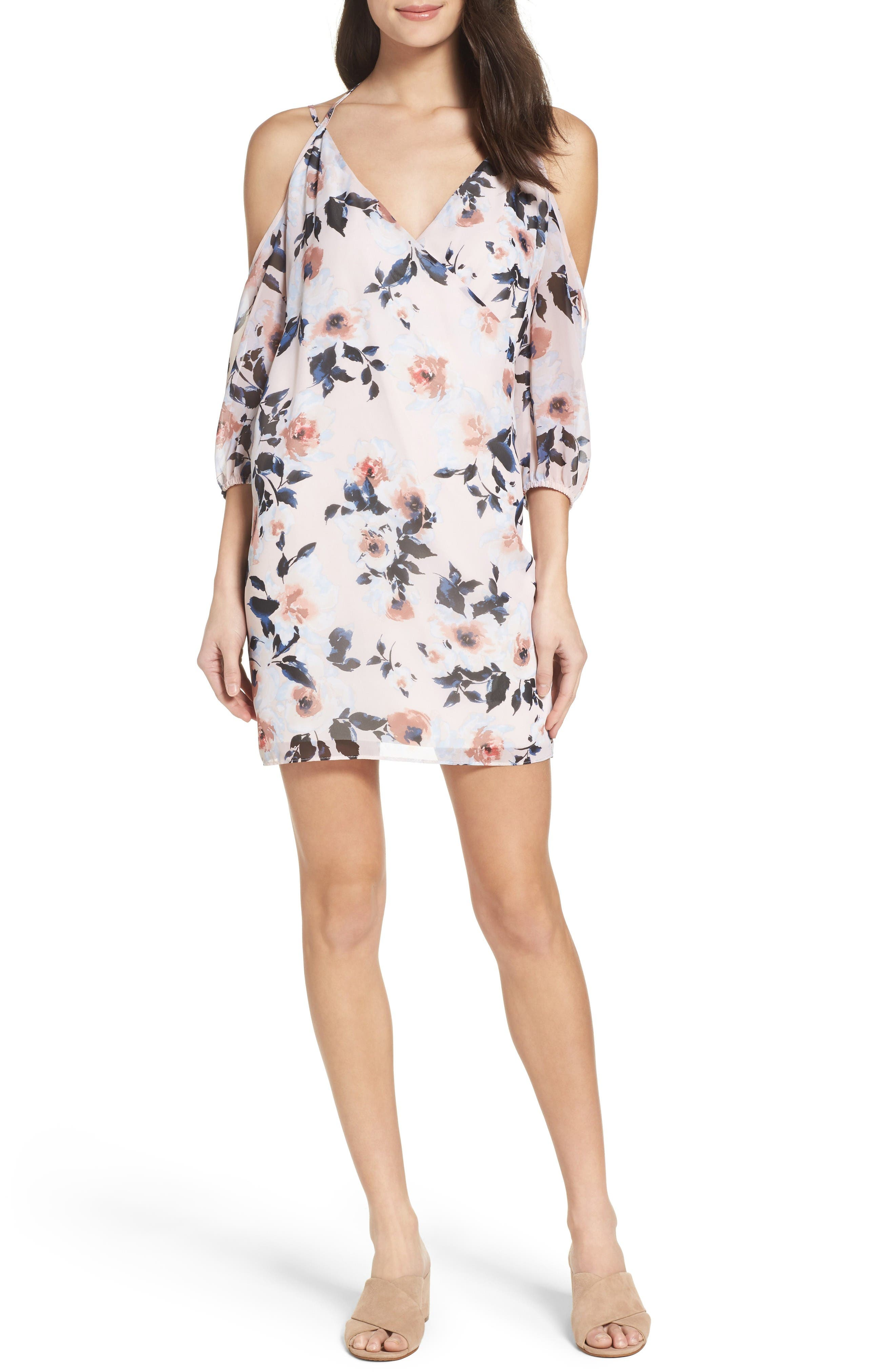 Ali & Jay Everything's Coming up Rosy Cold Shoulder Dress