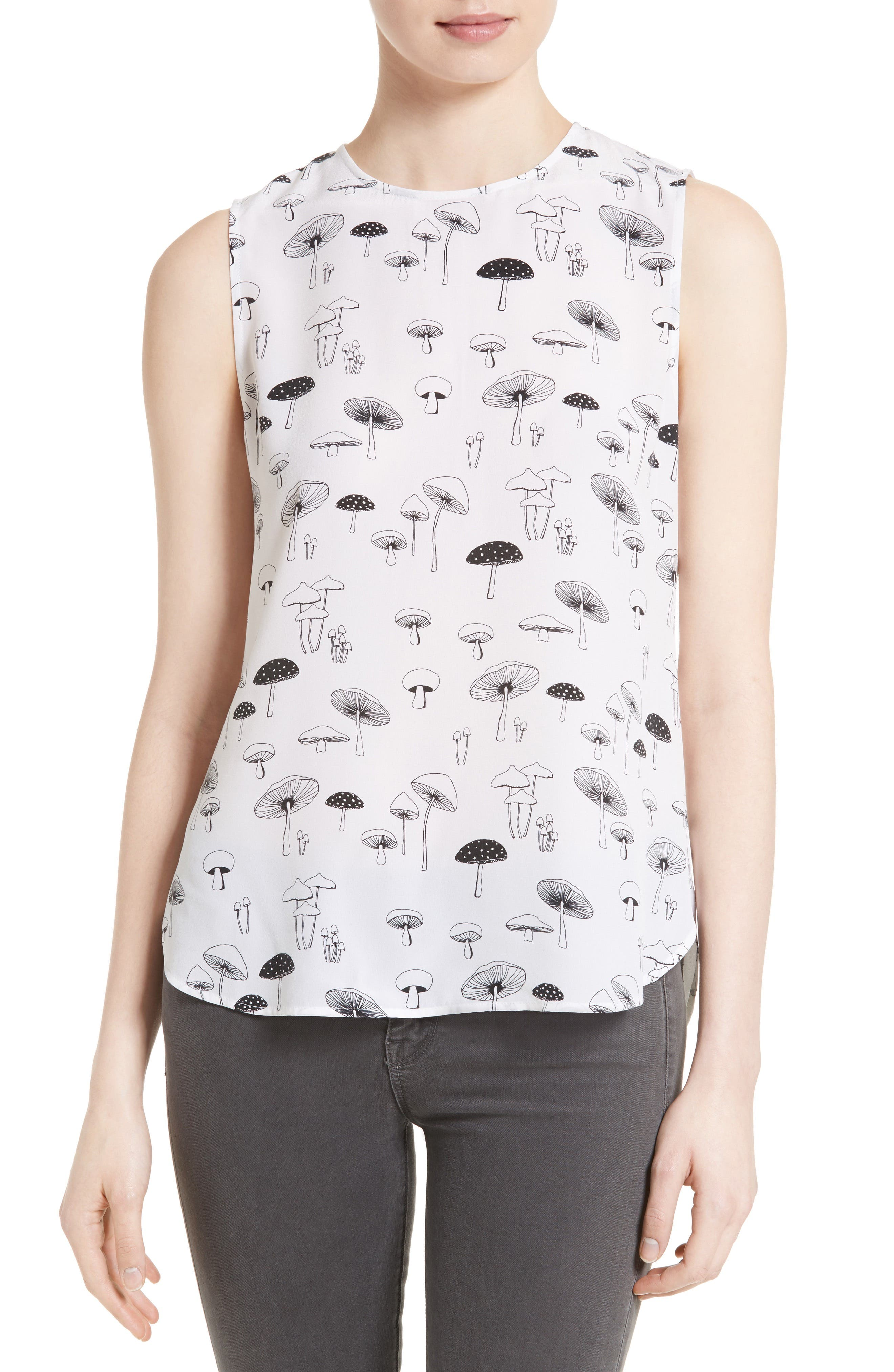 Main Image - Equipment Lyle Mushroom Print Silk Top