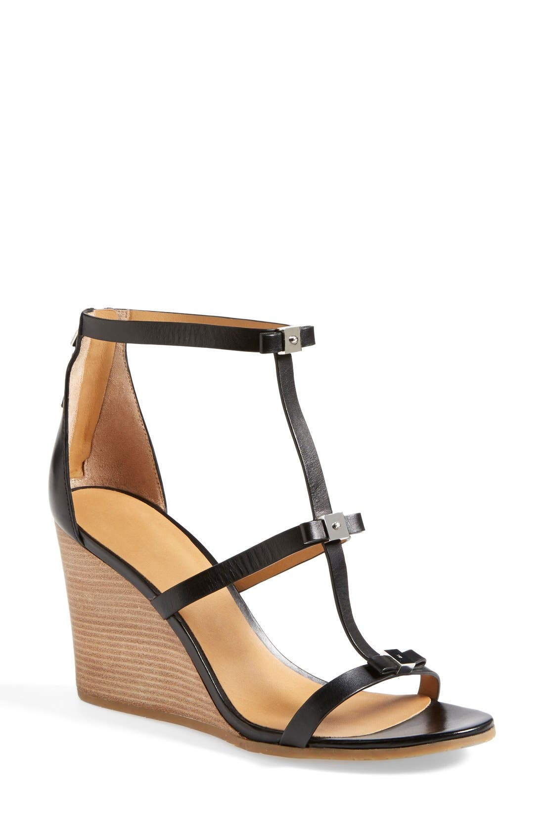 Alternate Image 1 Selected - MARC BY MARC JACOBS Cube Bow Leather Wedge Sandal (Women)