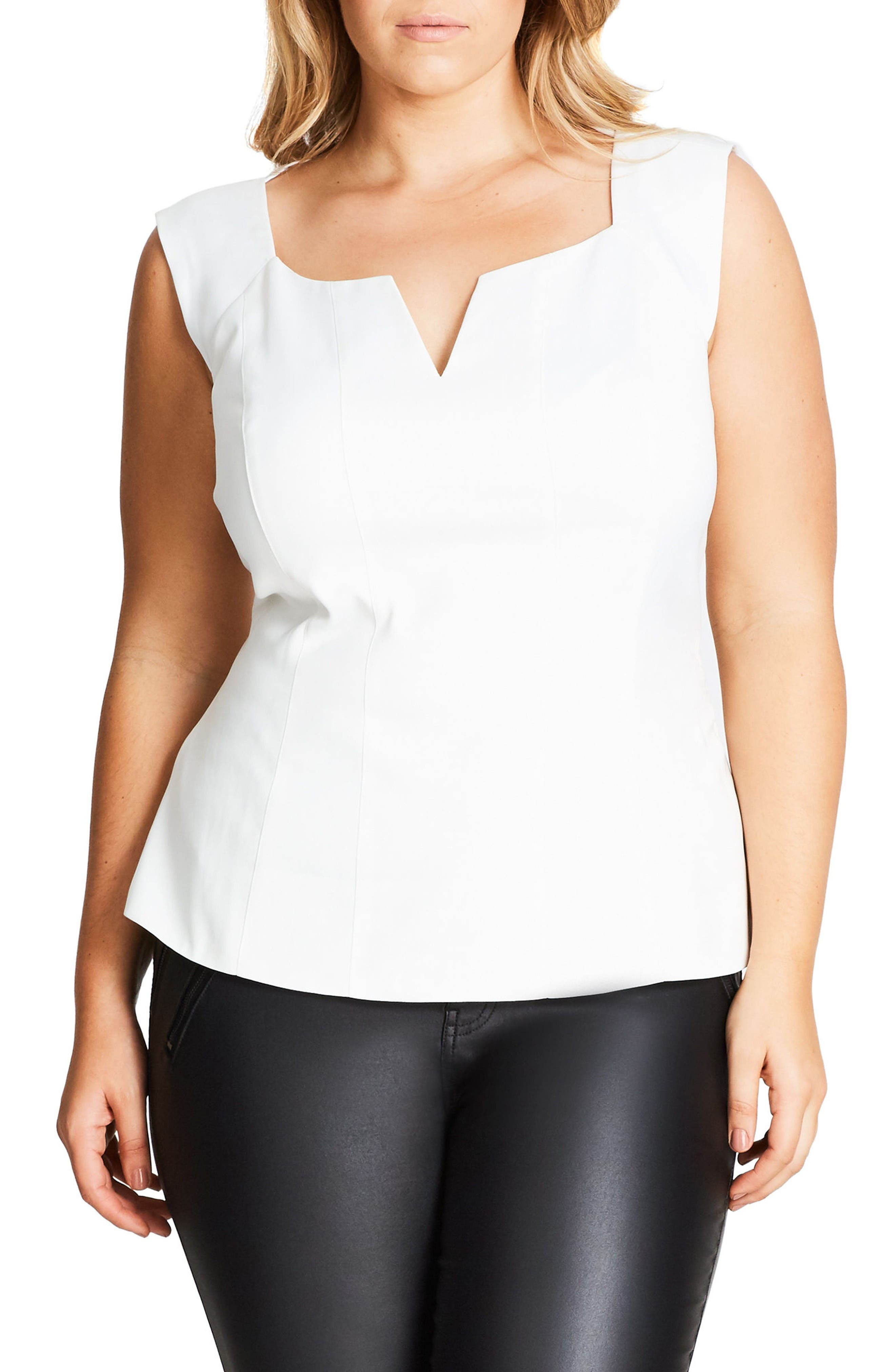 City Chic So Sleek Top (Plus Size)