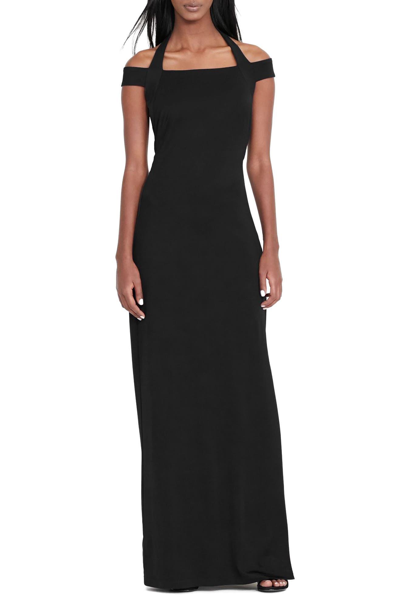 Lauren Ralph Lauren Off the Shoulder Column Gown