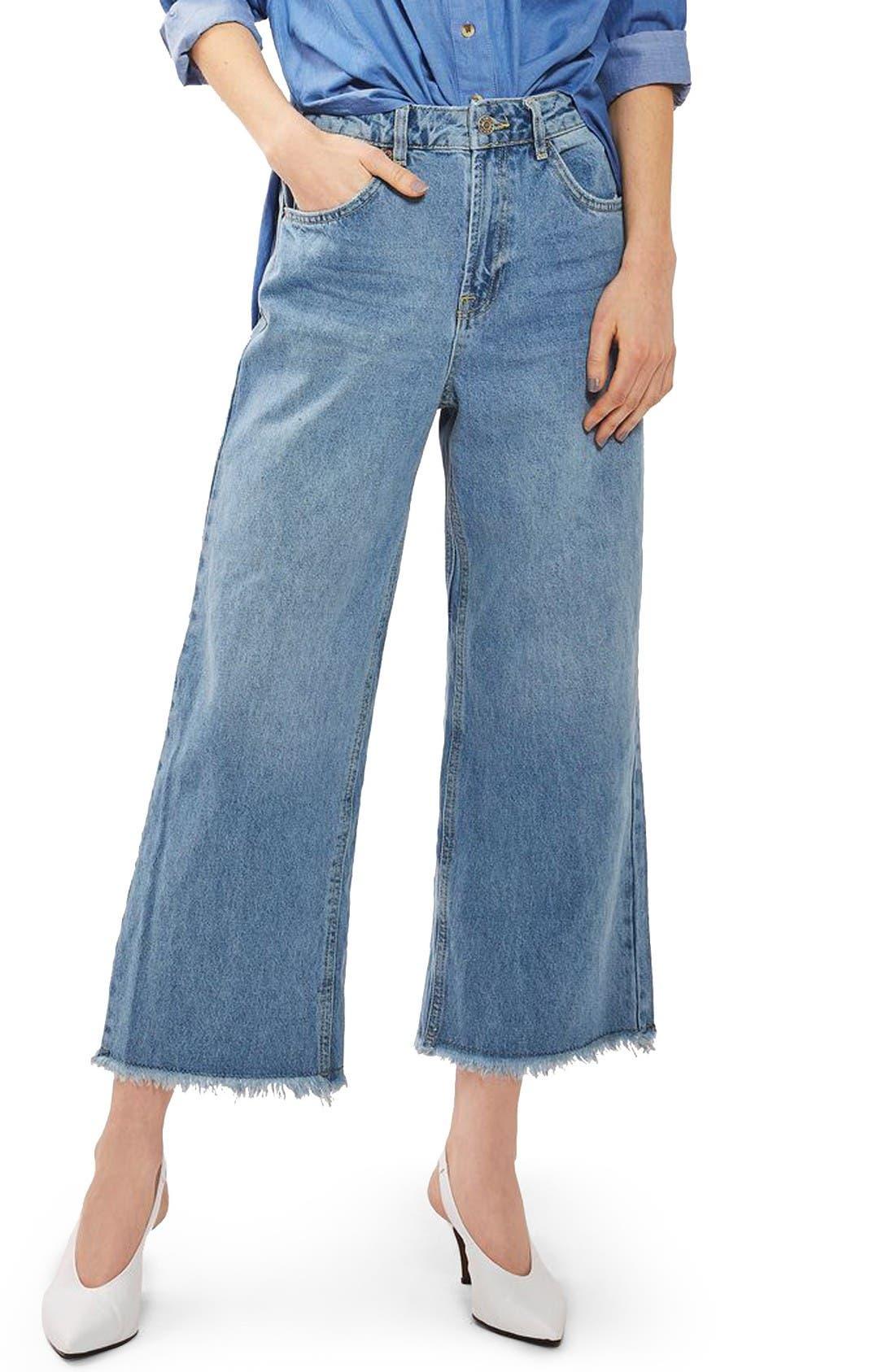Topshop Crop Straight Leg Jeans