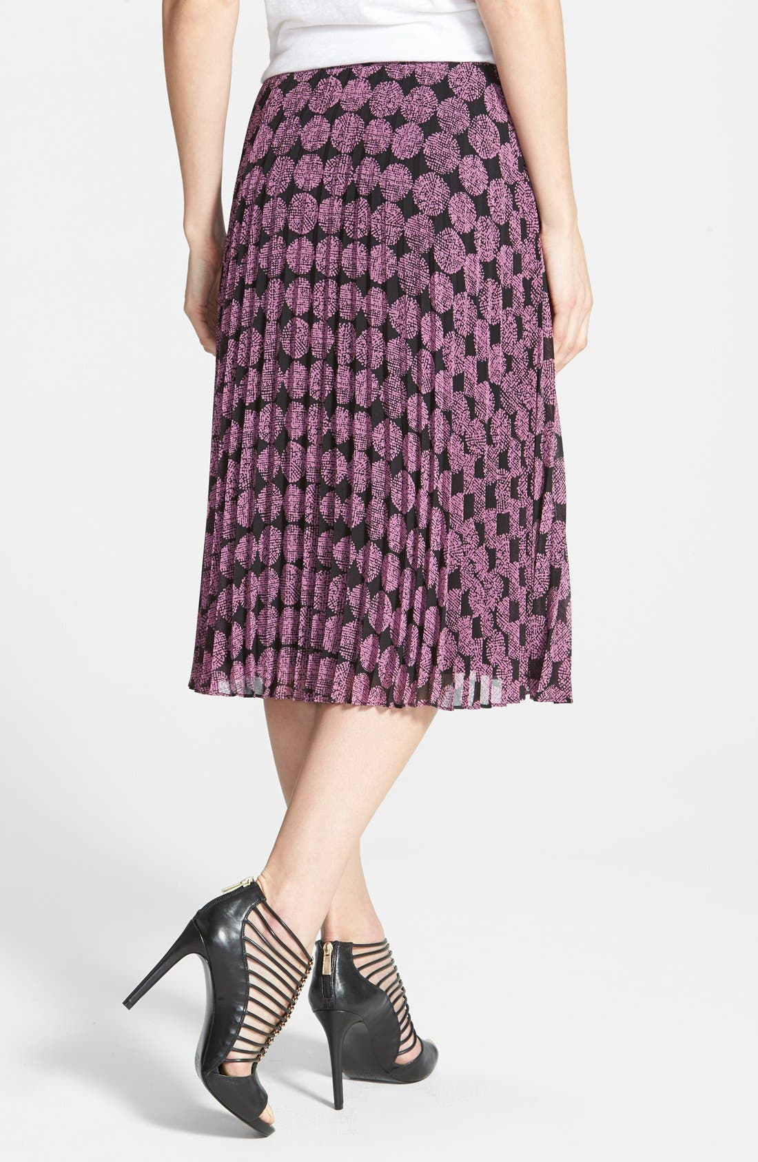 Alternate Image 2  - Halogen® Pleat Midi Skirt (Regular & Petite)