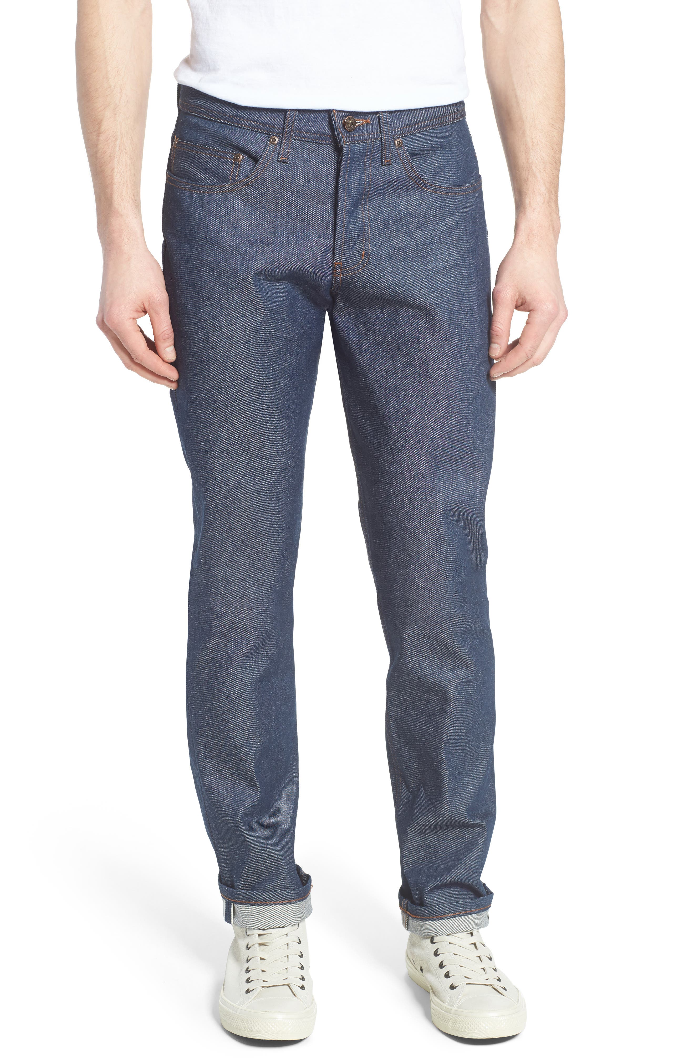 Naked & Famous Denim Weird Guy Slim Fit Raw Selvedge Jeans