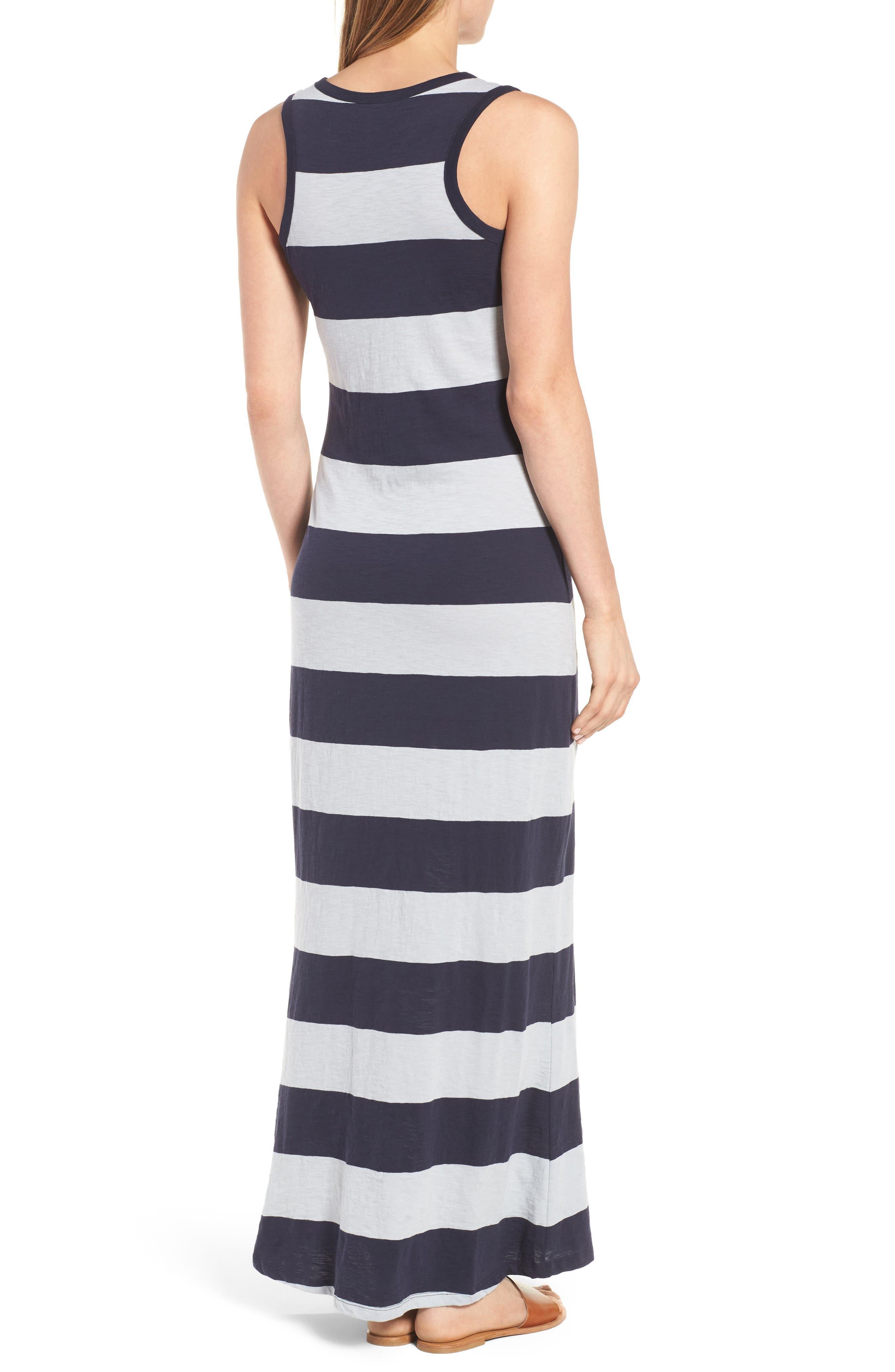 Alternate Image 2  - Press Stripe Racerback Maxi Dress