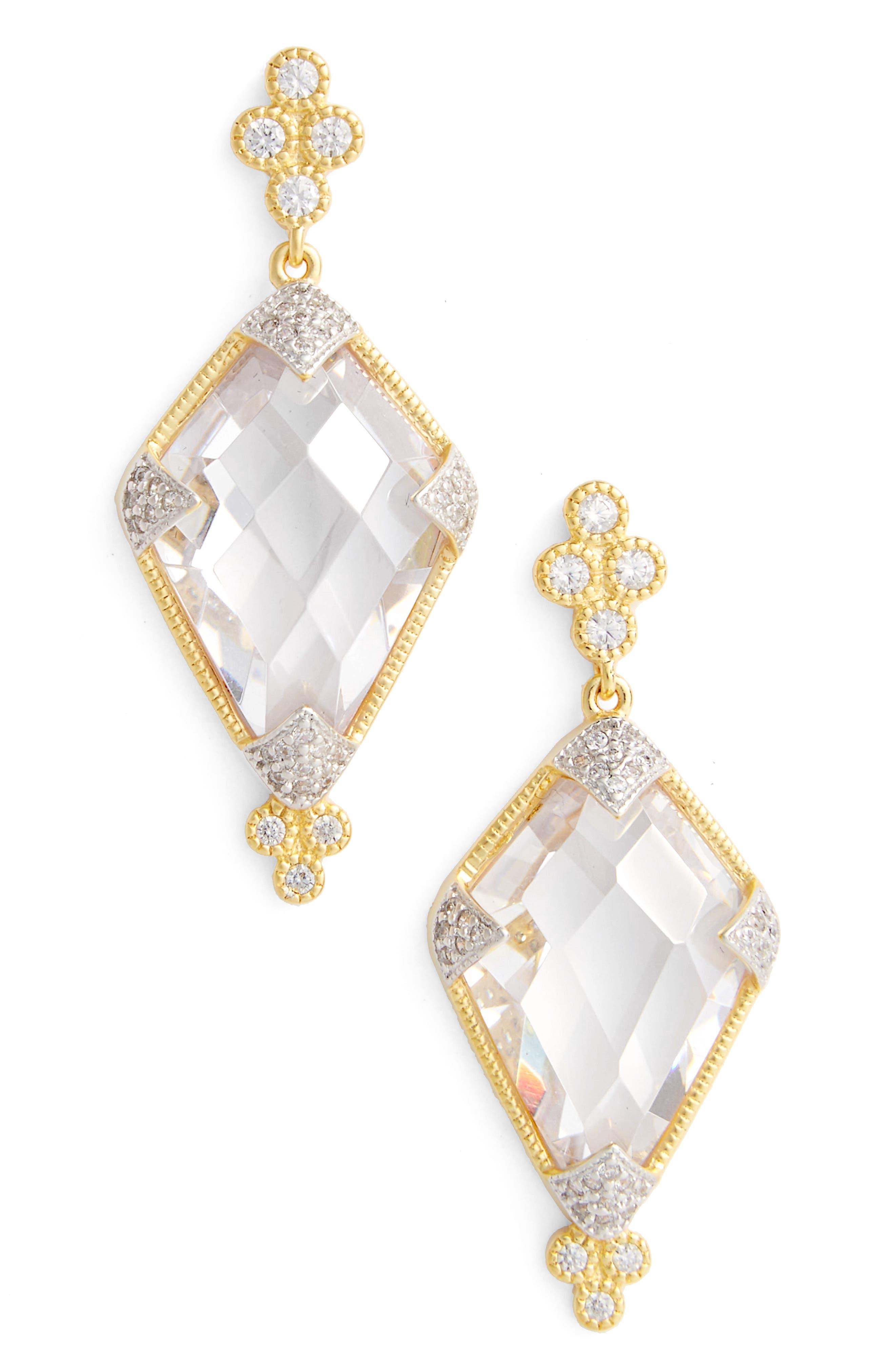 FREIDA ROTHMAN Visionary Fusion Cubic Zirconia Drop Earrings