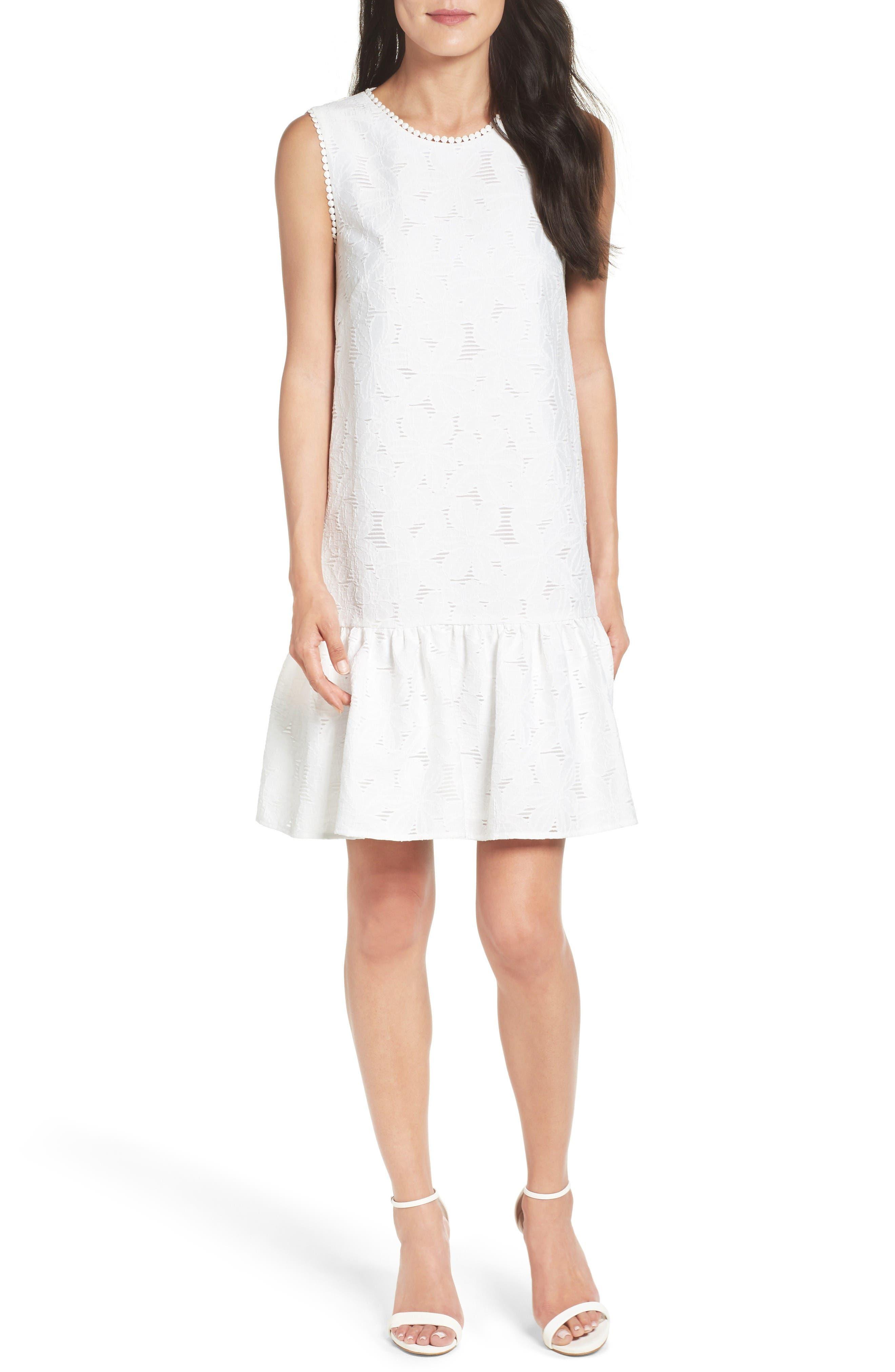 Maggy London Lace Ruffle Dress (Regular & Petite)