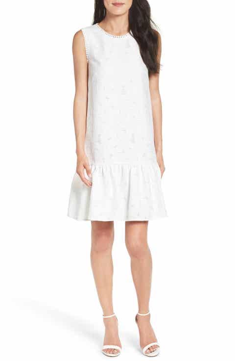 Maggy London Lace Ruffle Dress (Regular   Petite)