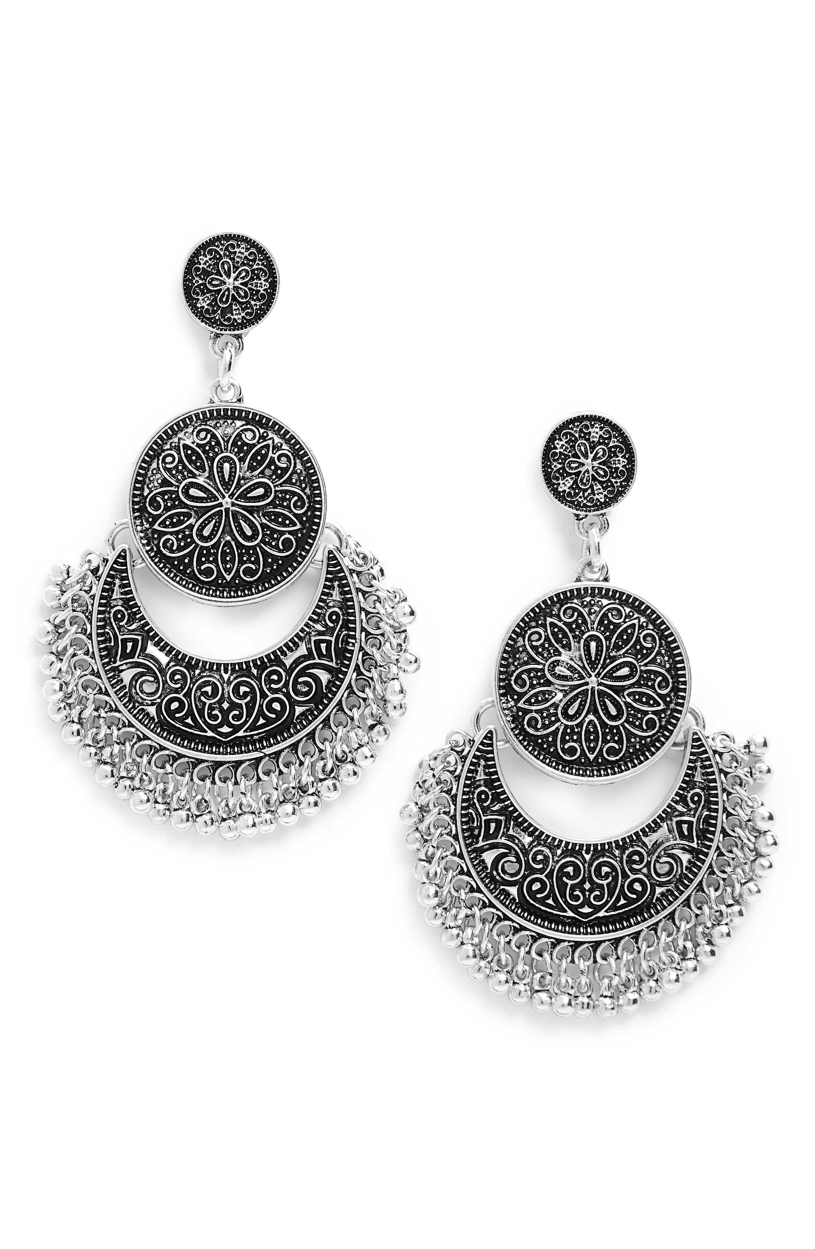 Alternate Image 1 Selected - Cara Chandelier Drop Earrings
