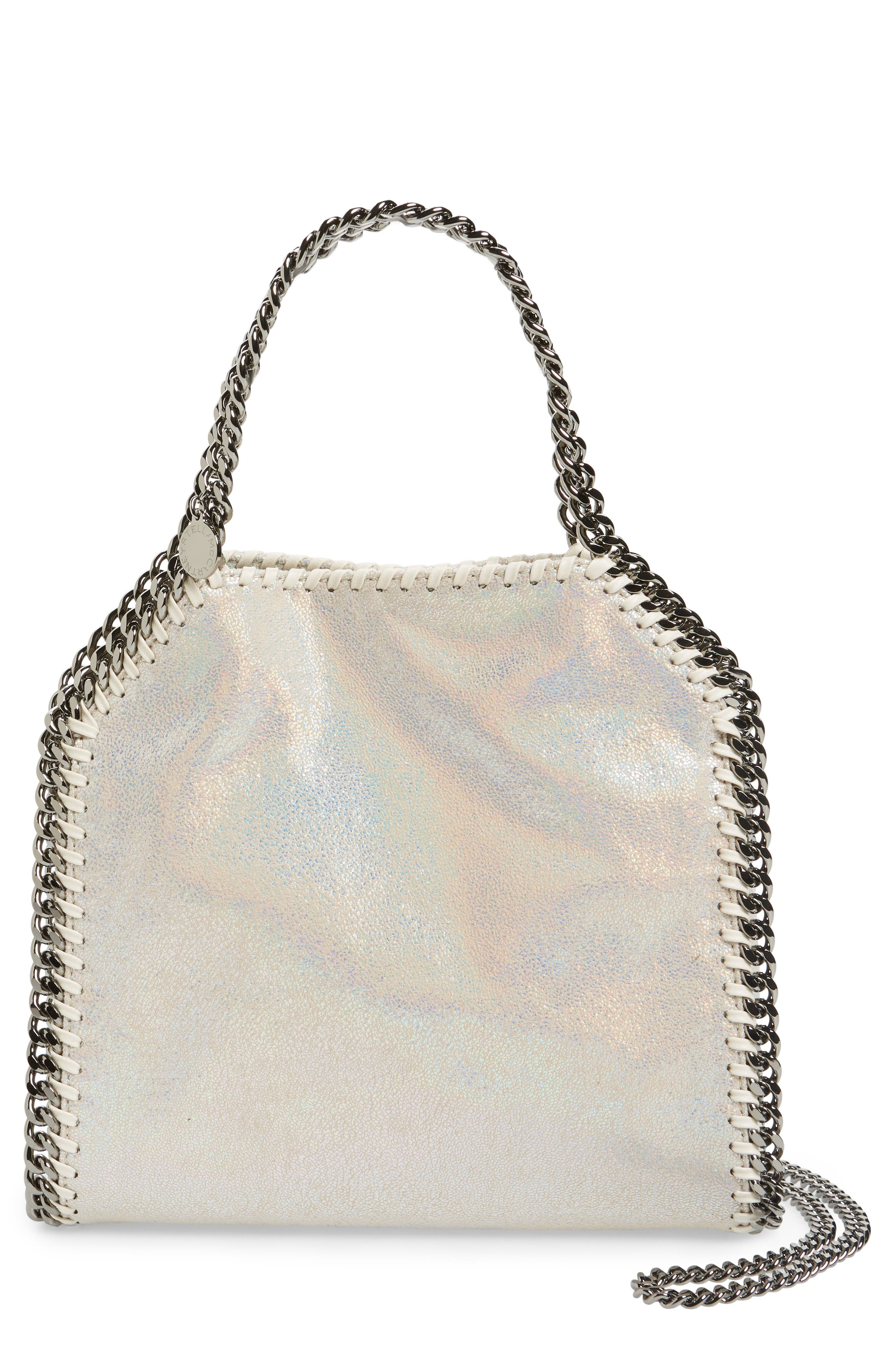 Alternate Image 1 Selected - Stella McCartney Mini Falabella - Holograph Faux Leather Crossbody Bag