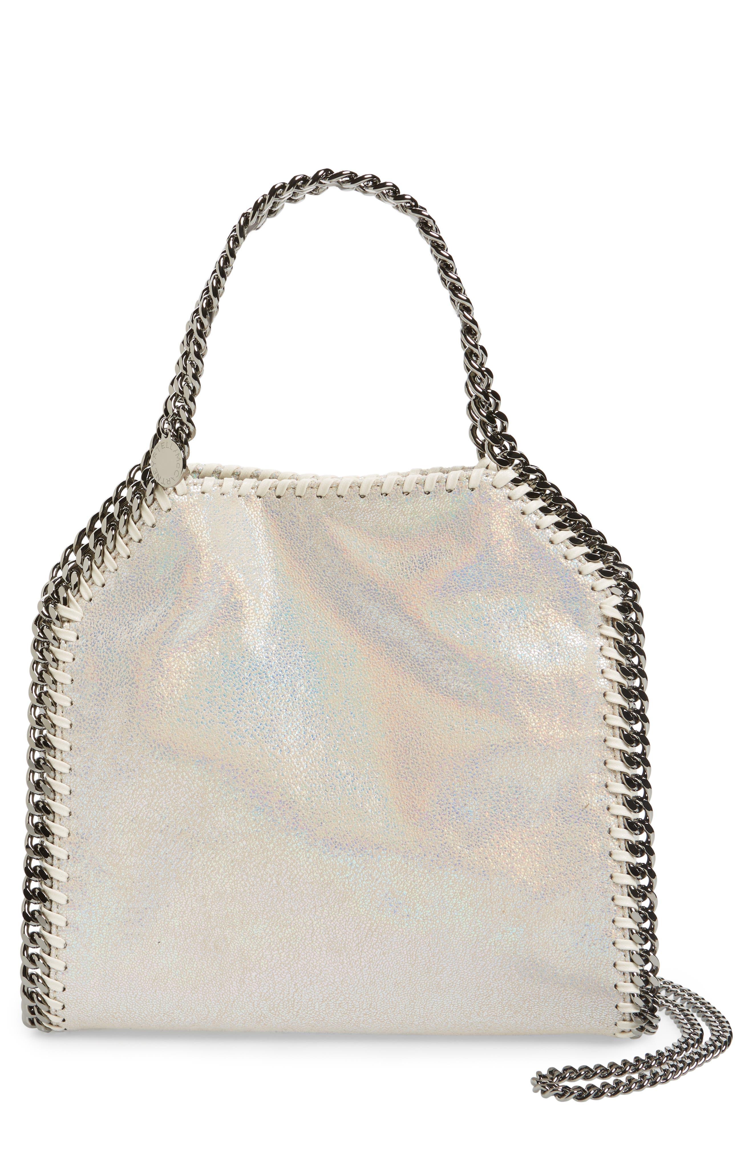 Main Image - Stella McCartney Mini Falabella - Holograph Faux Leather Crossbody Bag