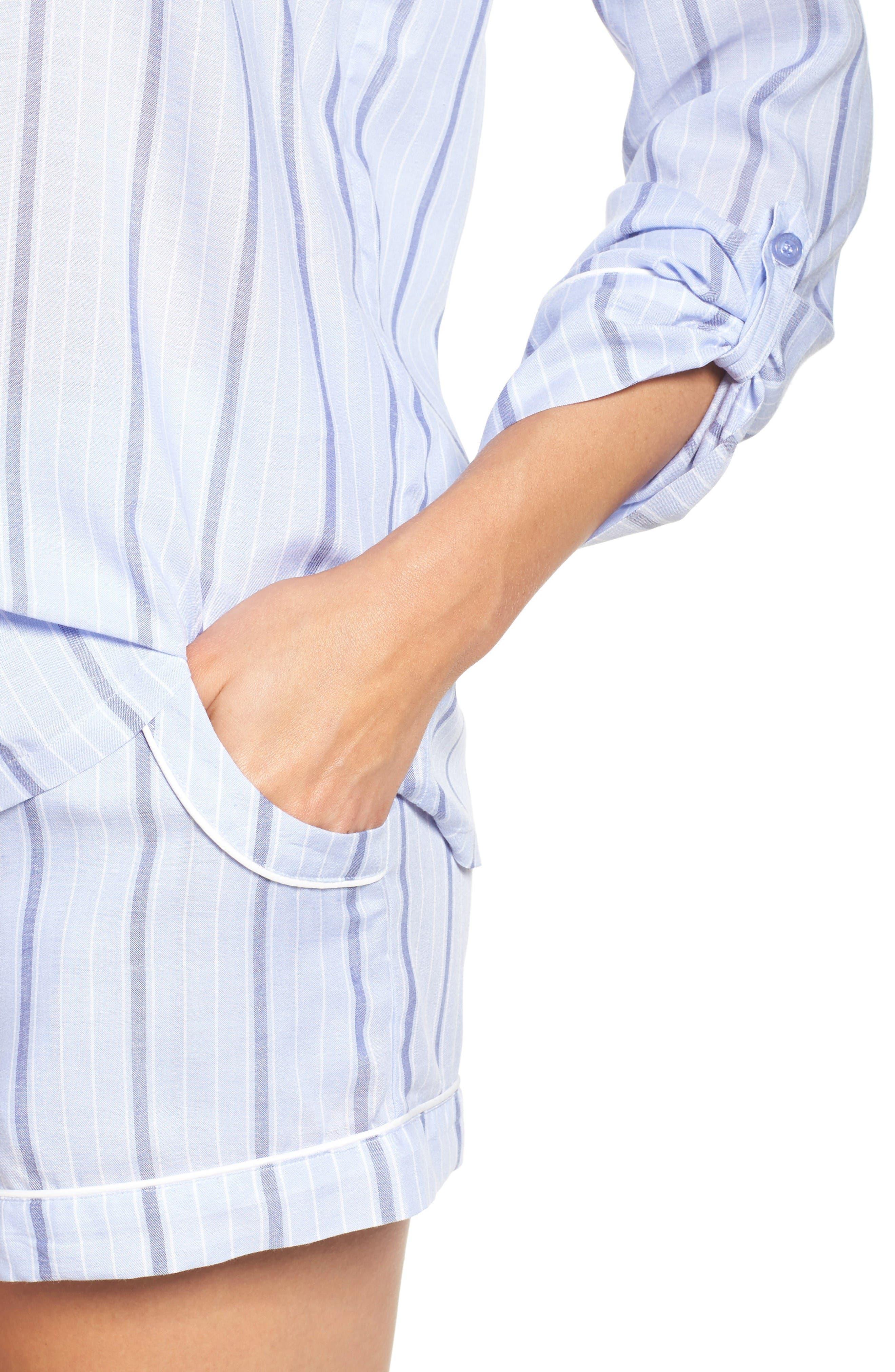 Alternate Image 4  - Nordstrom Lingerie Stripe Short Pajamas