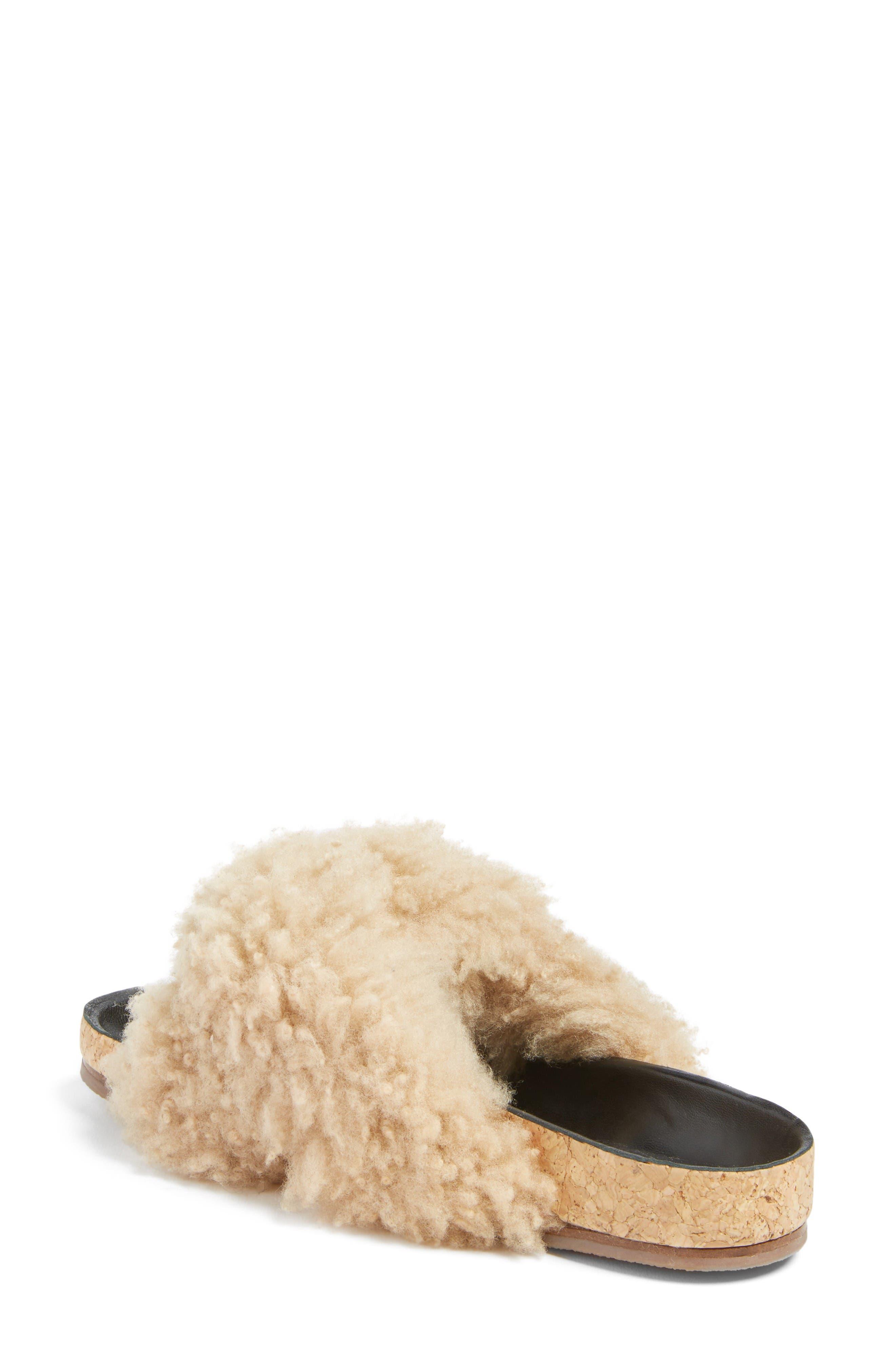 Alternate Image 2  - Chloé Kerenn Genuine Shearling Sandal (Women)