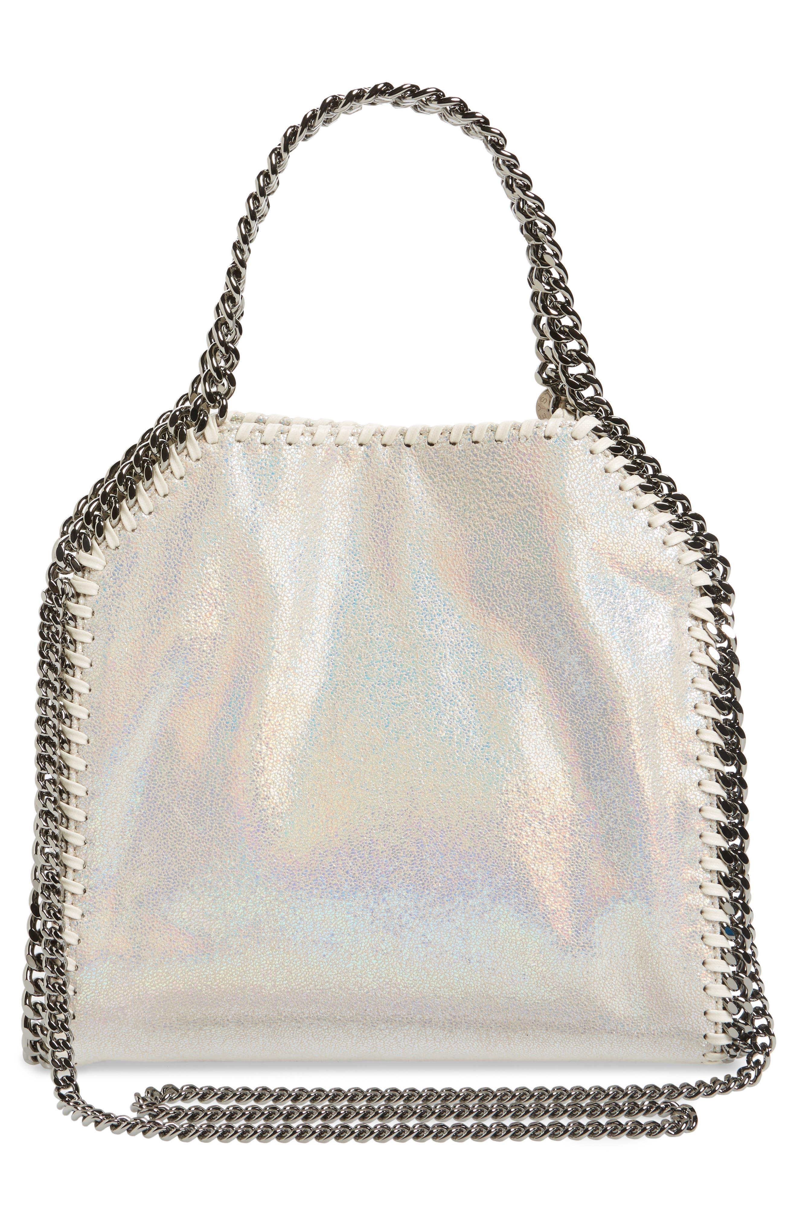 Alternate Image 3  - Stella McCartney Mini Falabella - Holograph Faux Leather Crossbody Bag