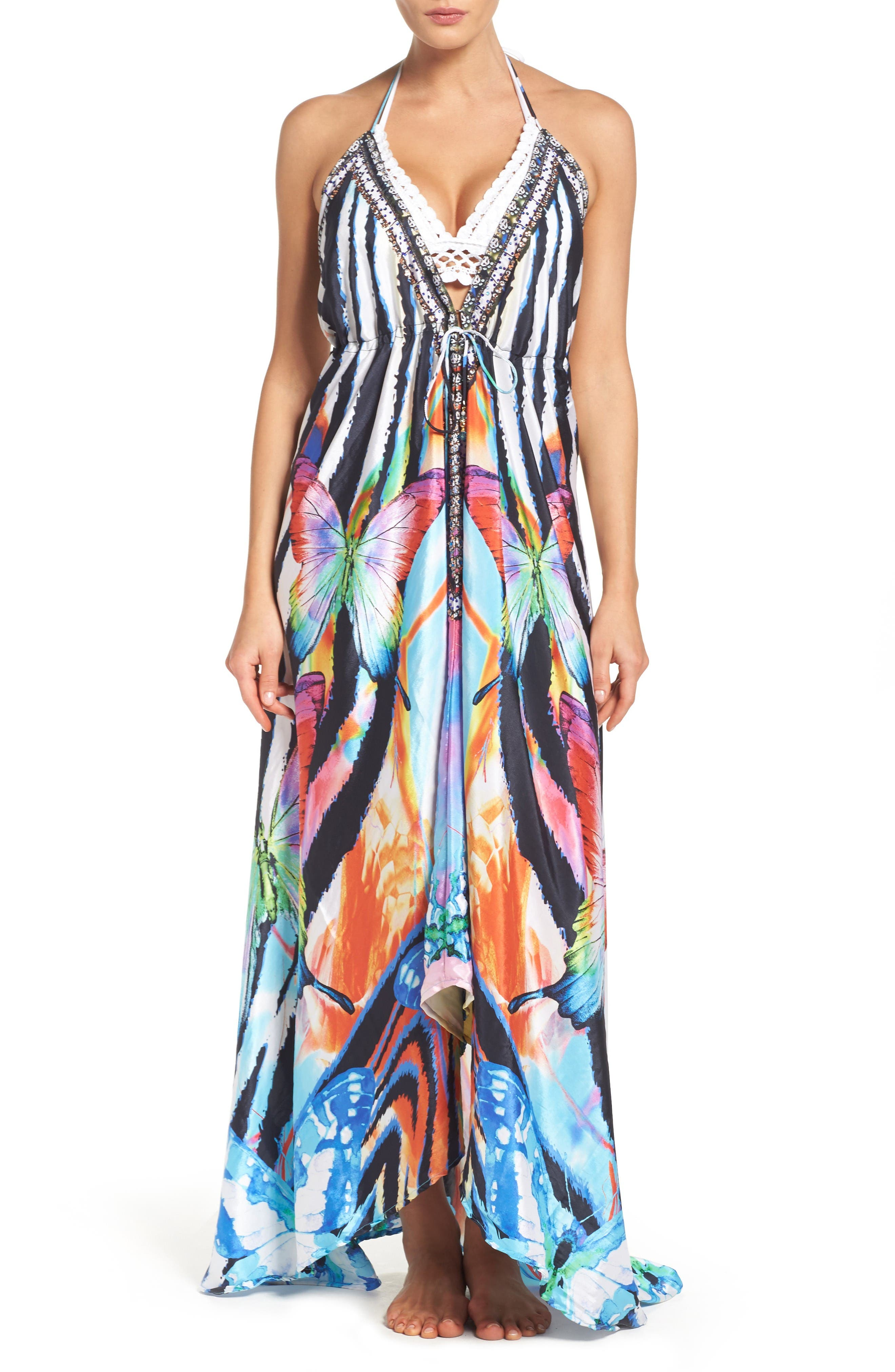 Alternate Image 1 Selected - Asa Kaftans Tortuga Cover-Up Maxi Dress