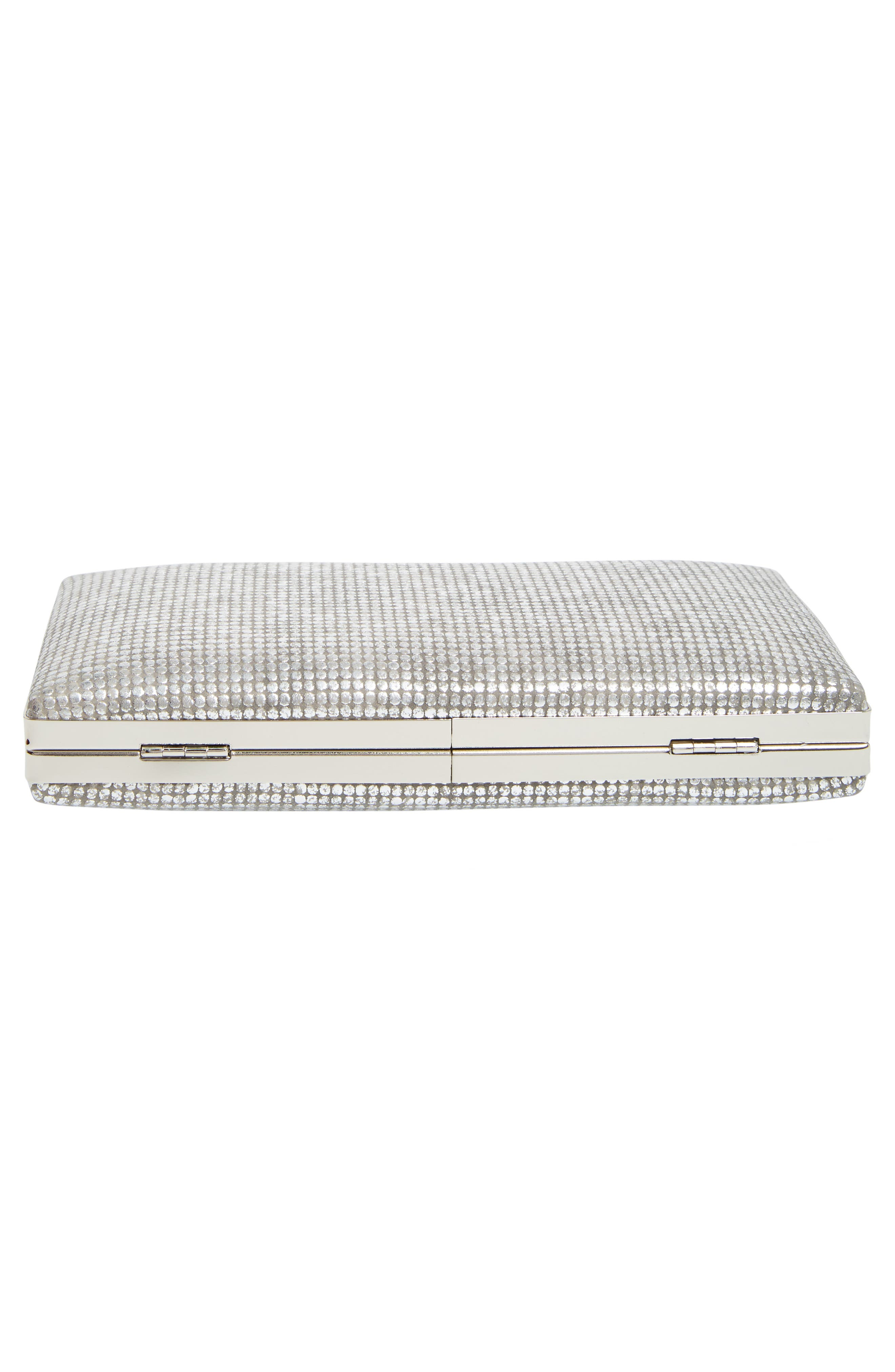 Alternate Image 6  - Sondra Roberts Embossed Metallic Box Clutch