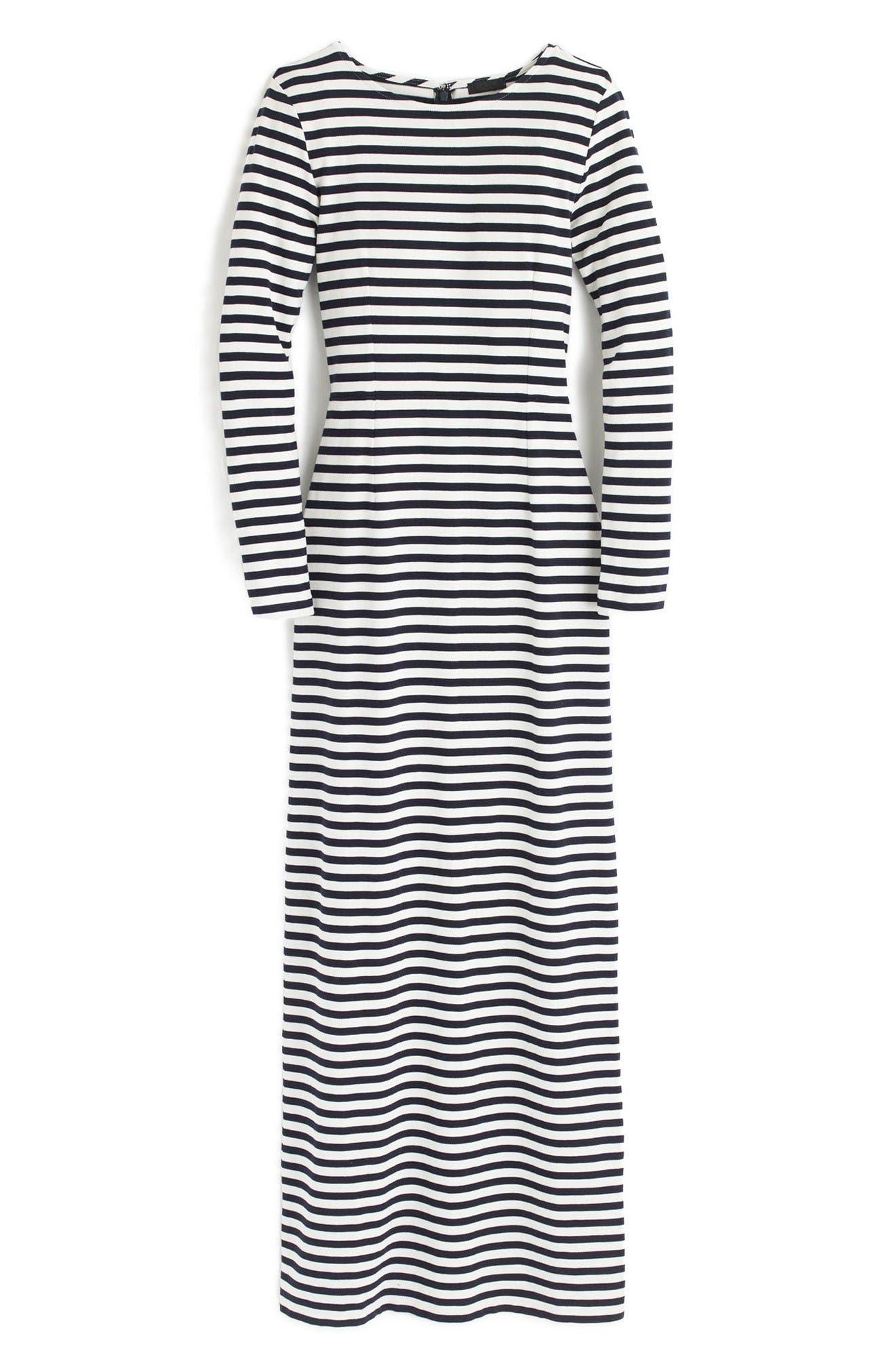 Alternate Image 4  - J.Crew Long Sleeve Stripe Maxi Dress