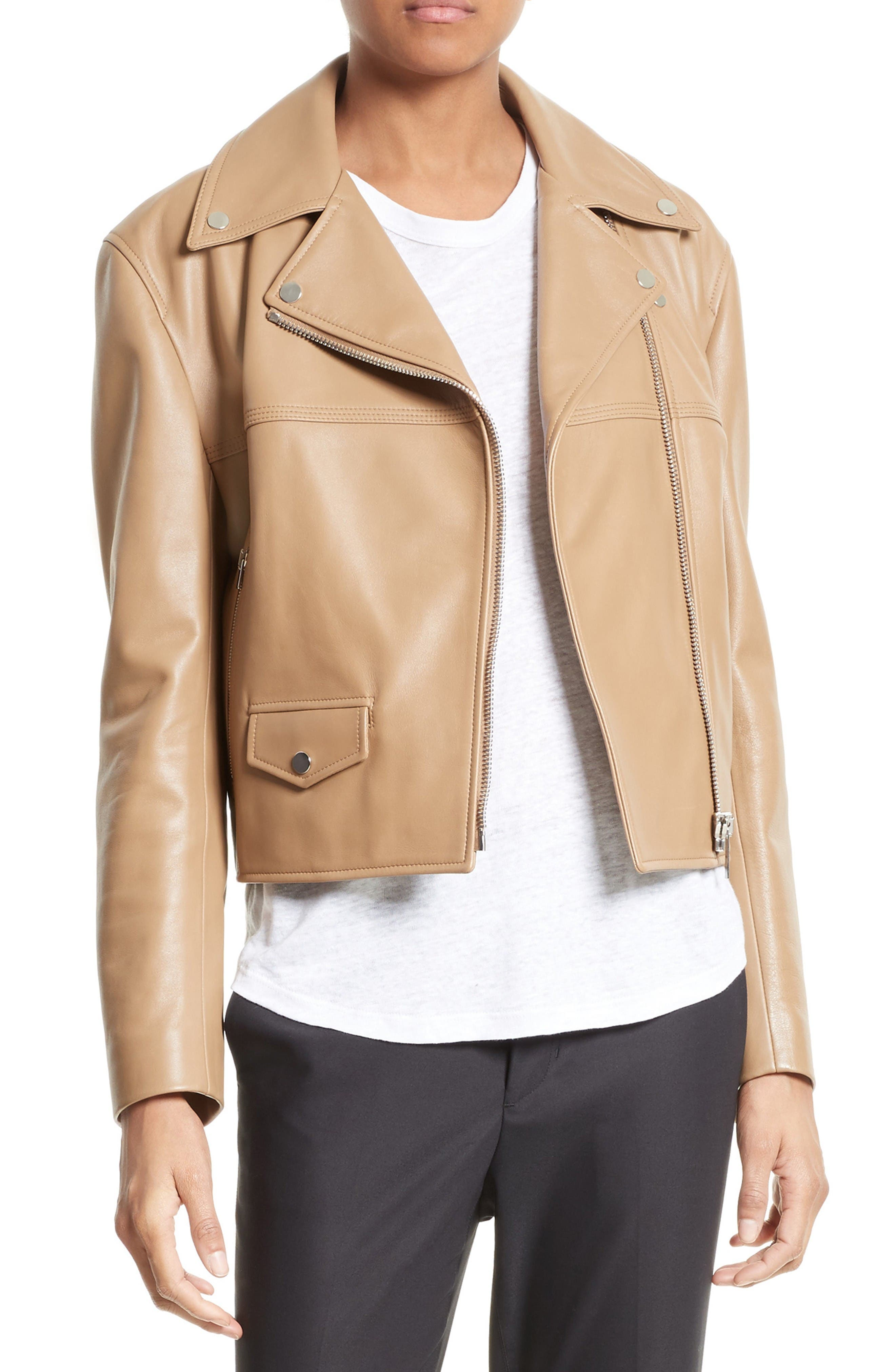 Helmut Lang Lambskin Leather Biker Jacket
