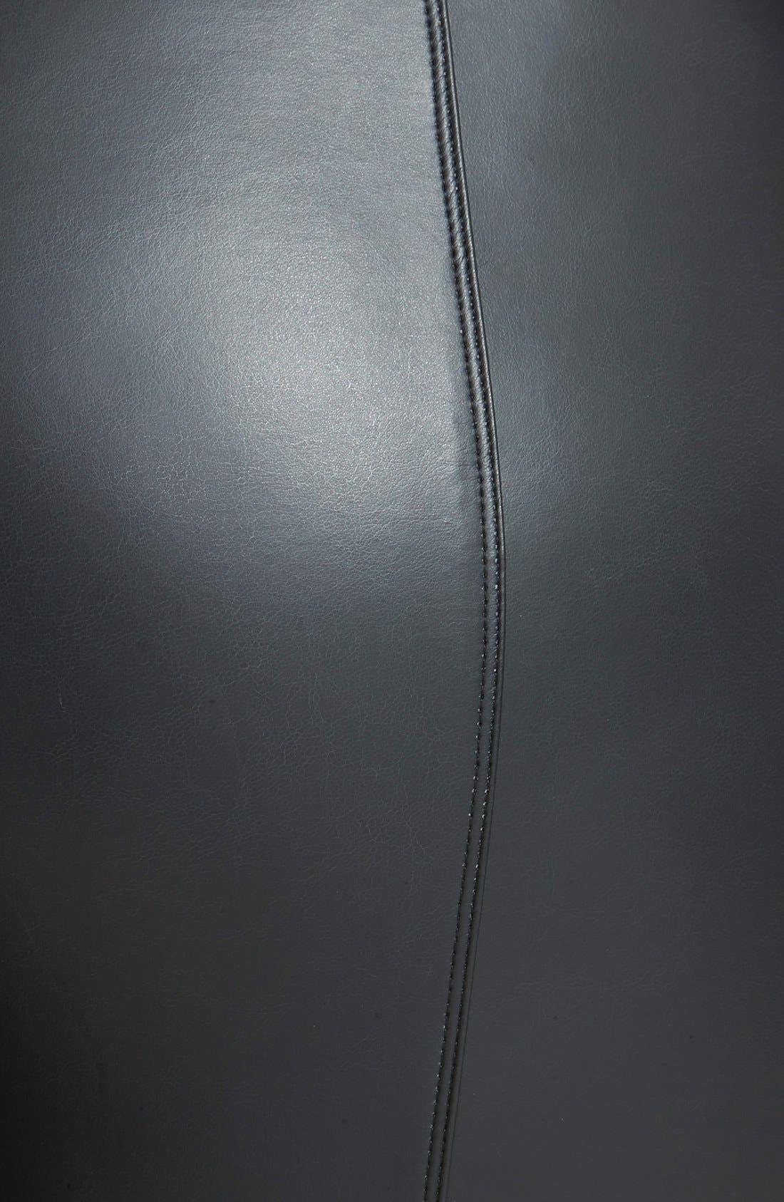 Alternate Image 3  - Lyssé® Faux Leather Leggings (Plus Size)