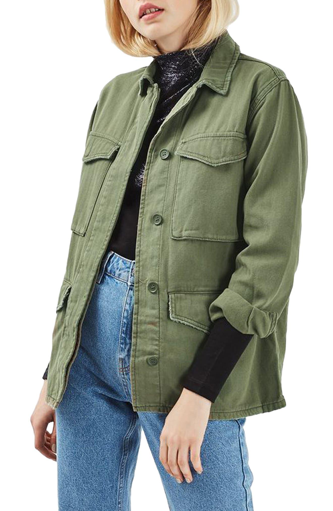 Alternate Image 1 Selected - Topshop Ethan Shirt Jacket