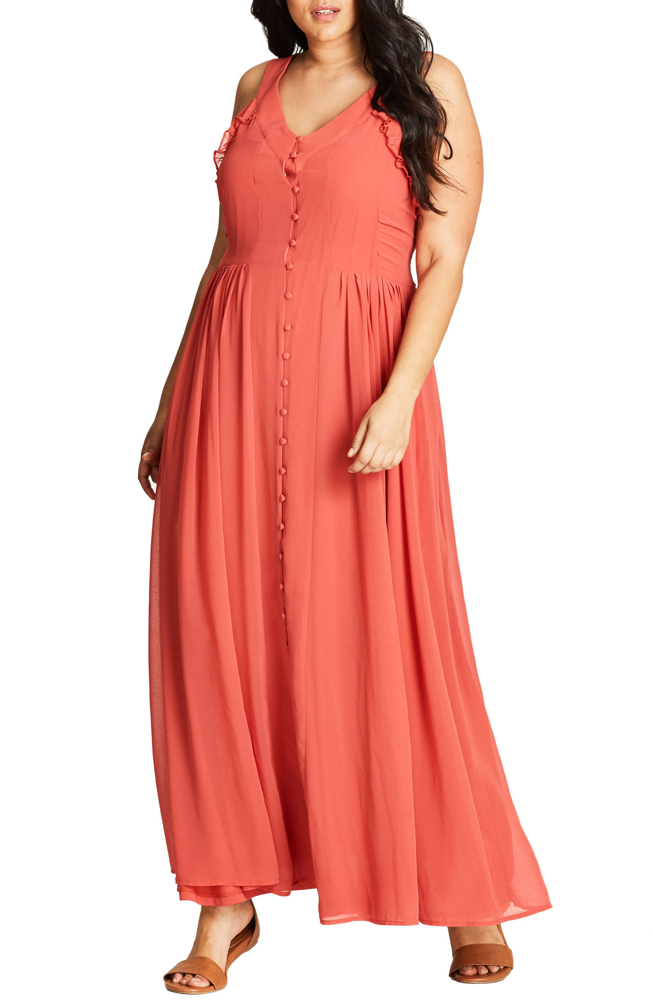 City Chic Willow Maxi Dress (Plus Size)