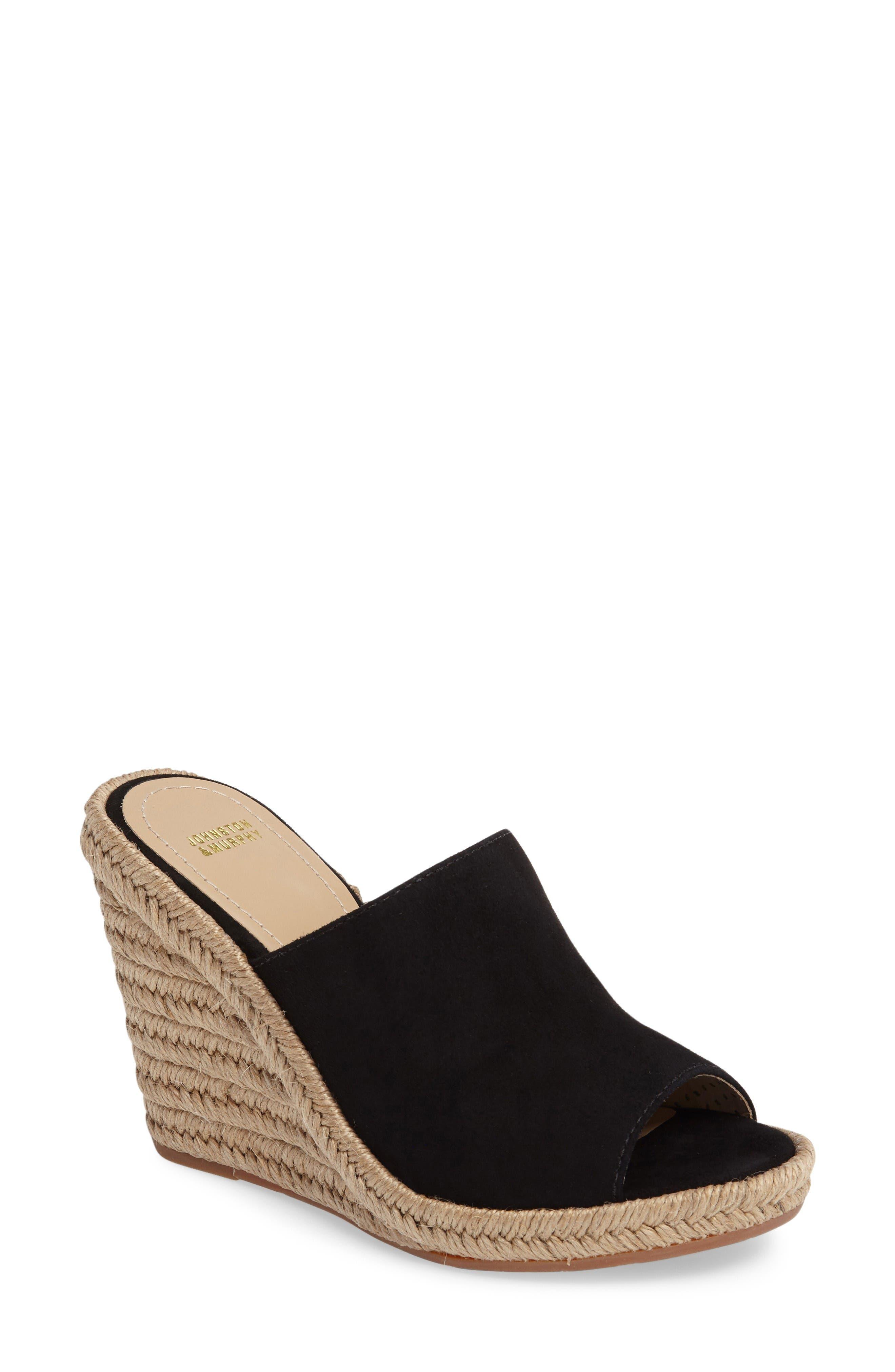 Johnston & Murphy Myrah Wedge Slide Sandal (Women)