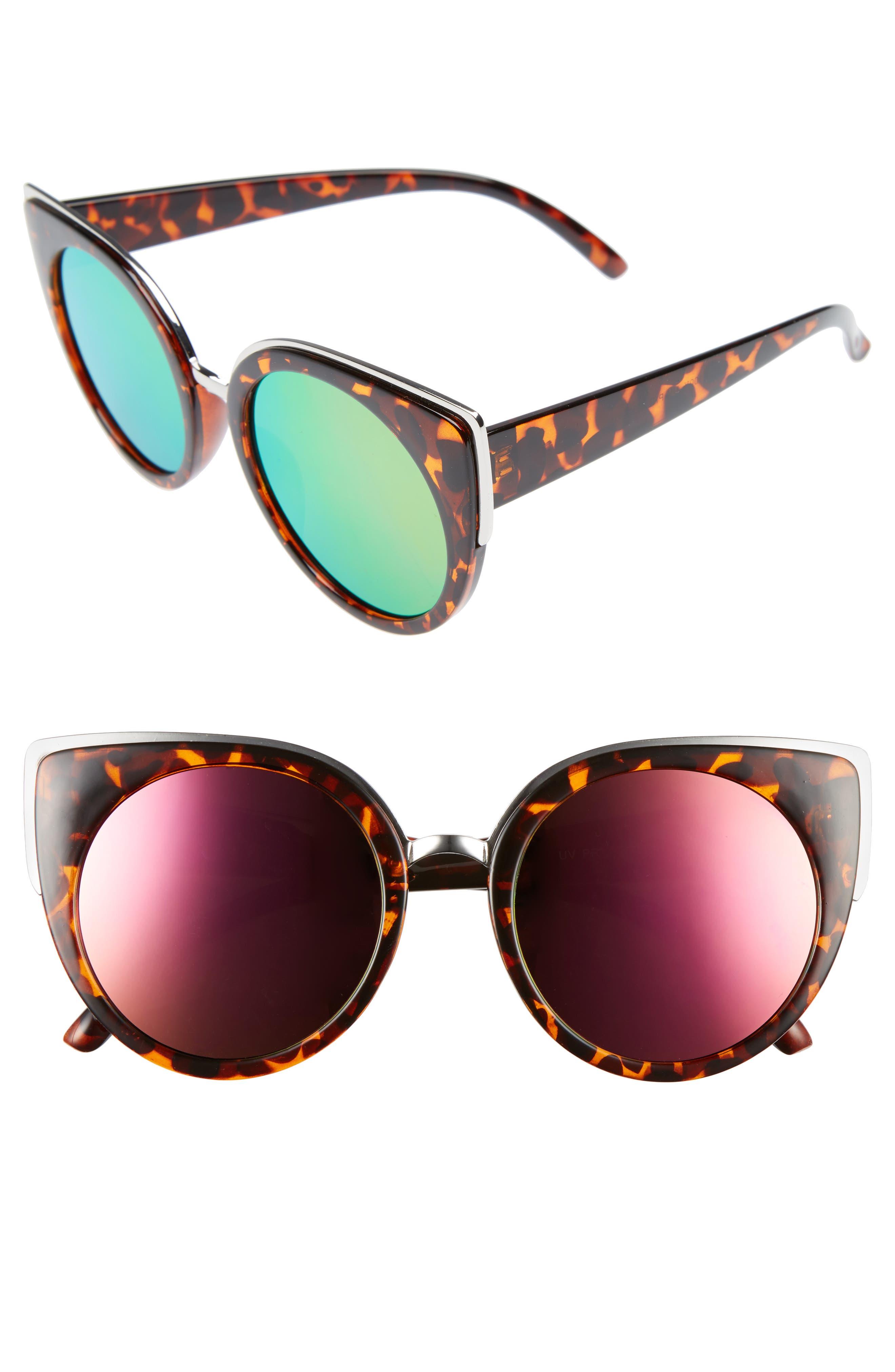 BP. 64mm Round Cat Eye Sunglasses