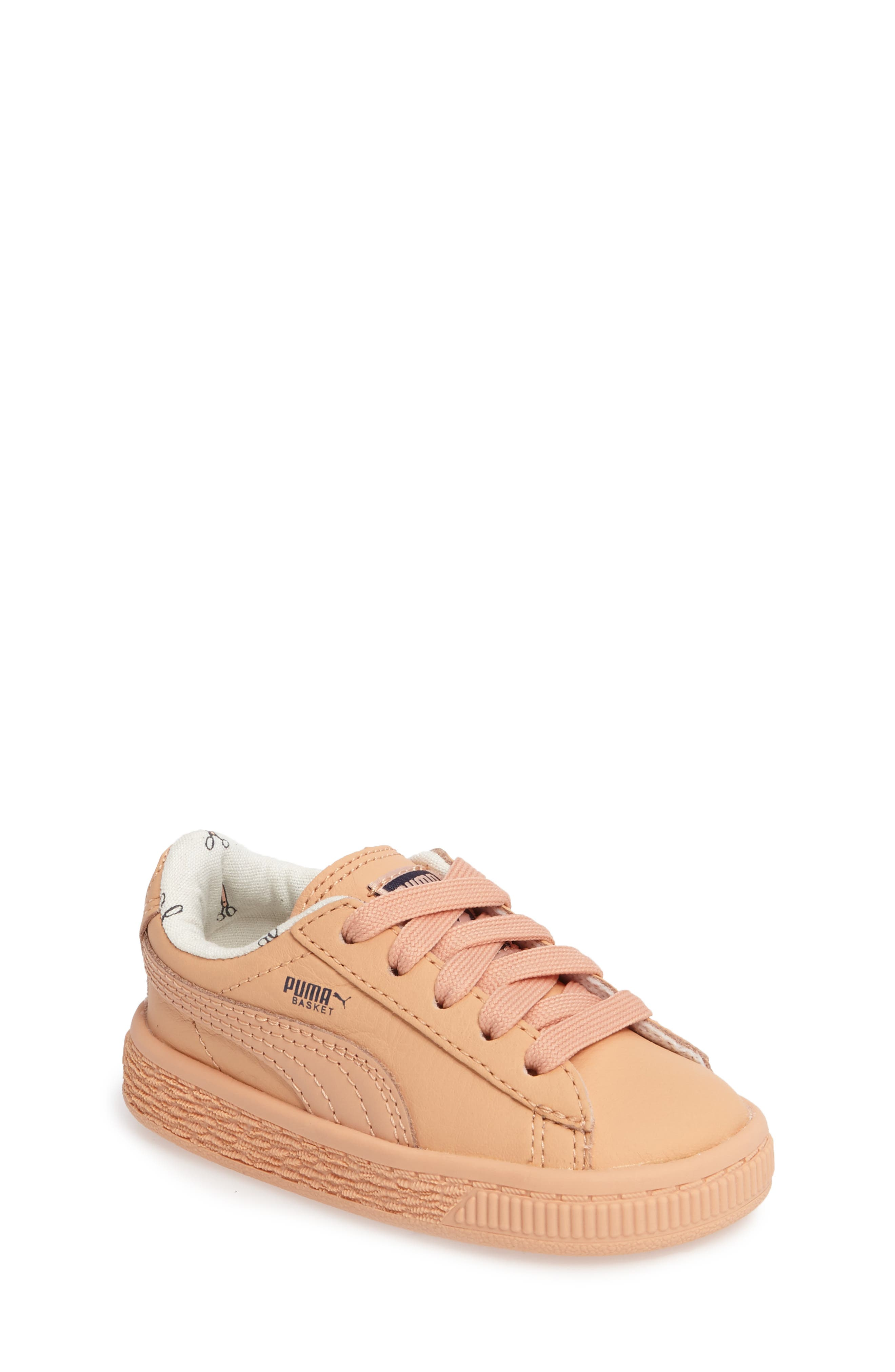 PUMA x tinycottons Basket Sneaker (Baby, Walker & Toddler)