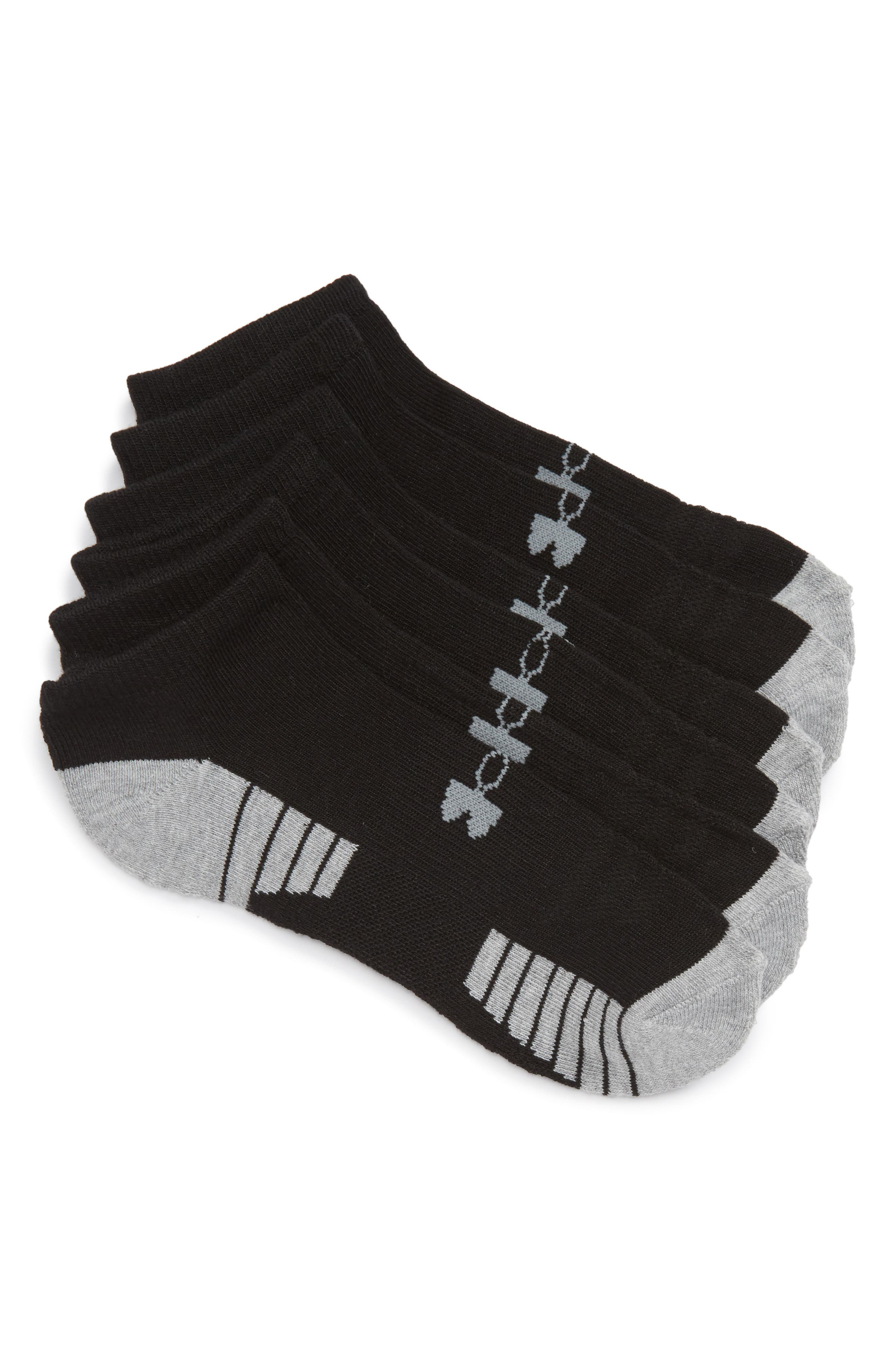 Under Armour HeatGear 3-Pack No-Show Socks