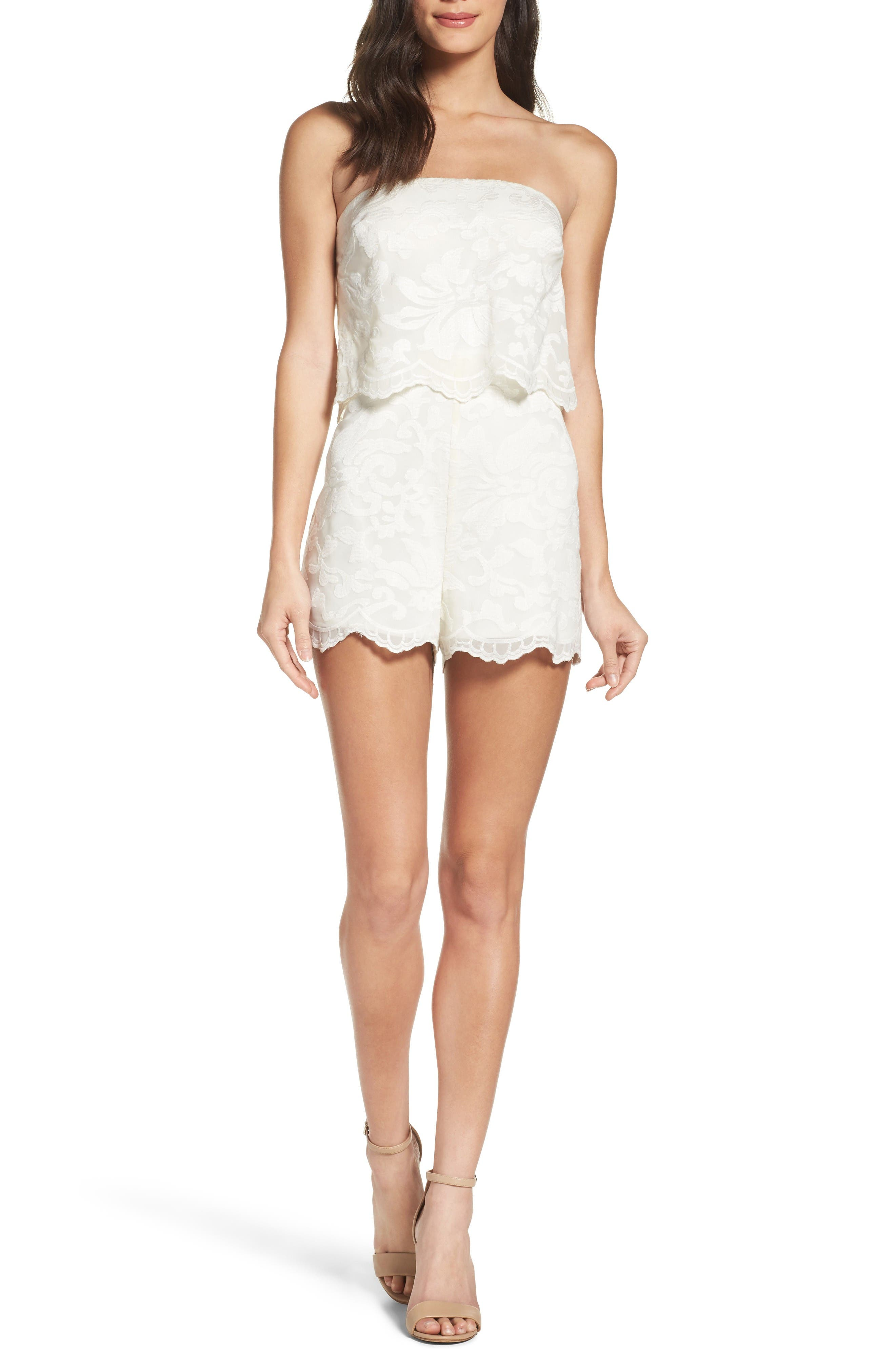 Main Image - Ali & Jay Stop & Smell the Roses Strapless Romper