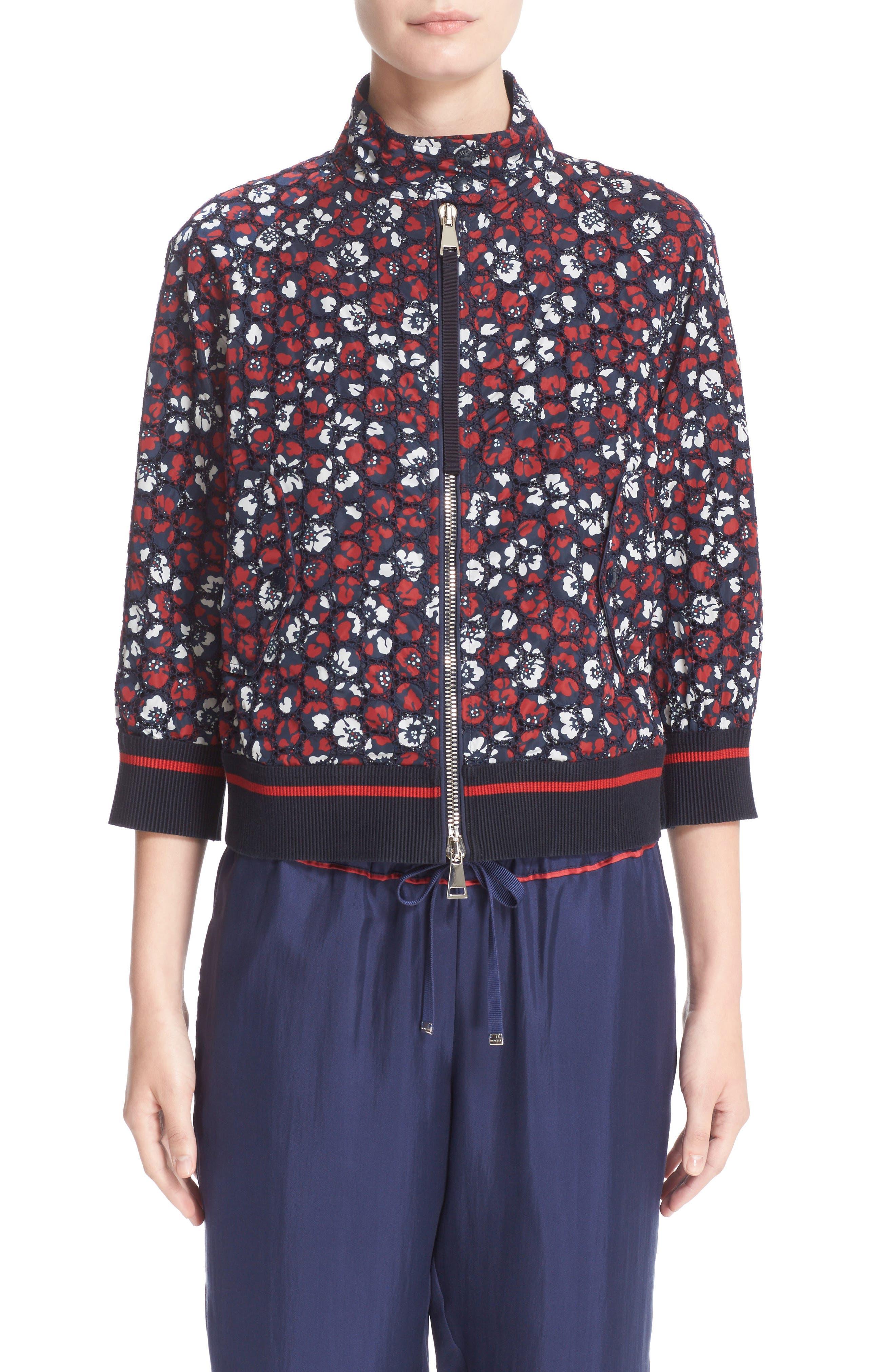 Alternate Image 6  - Moncler Fiadone Floral Eyelet Jacket