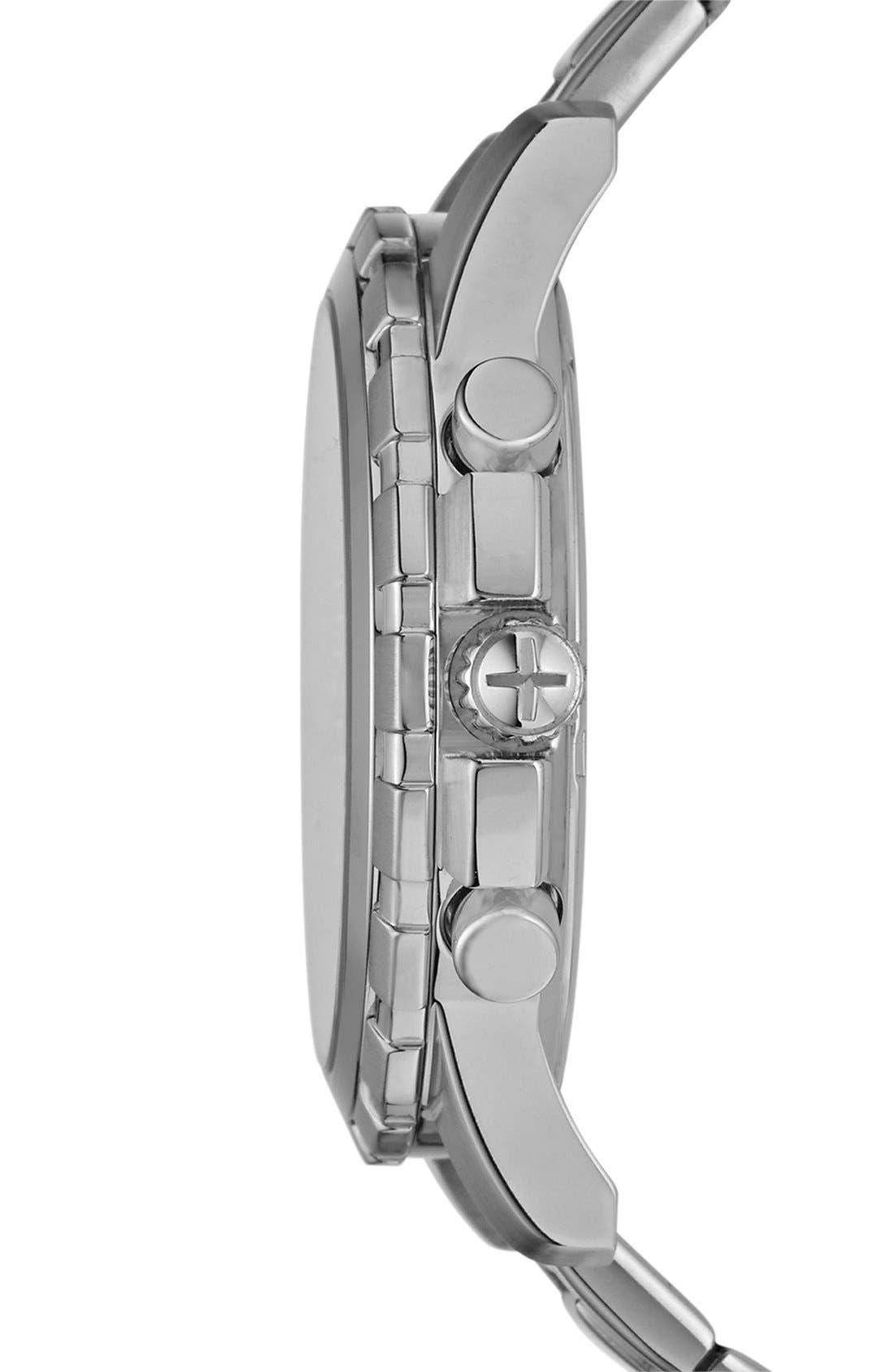 Alternate Image 3  - Fossil Notched Bezel Chronograph Bracelet Watch, 45mm